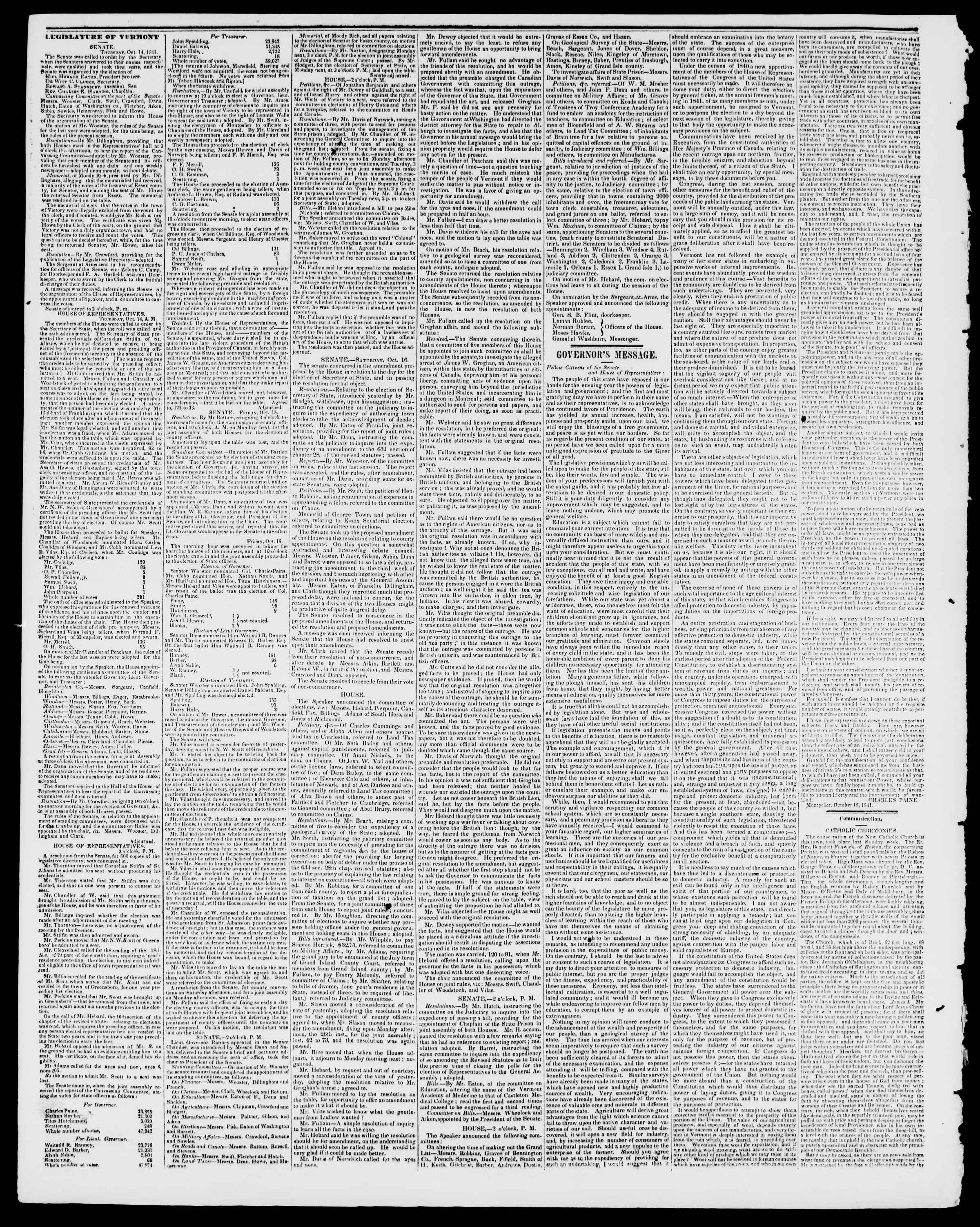 Newspaper of Burlington Free Press dated October 22, 1841 Page 2
