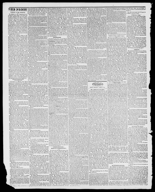 Newspaper of Burlington Free Press dated April 1, 1842 Page 2