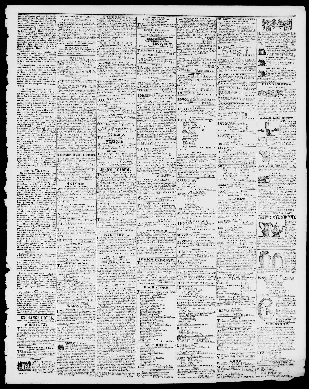 Newspaper of Burlington Free Press dated April 1, 1842 Page 3