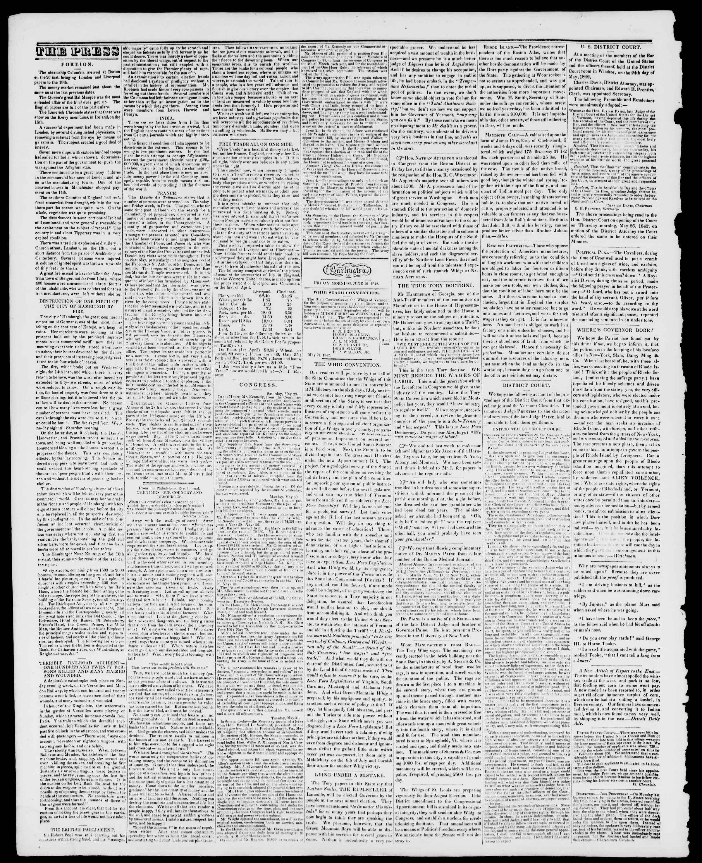 Newspaper of Burlington Free Press dated June 10, 1842 Page 2