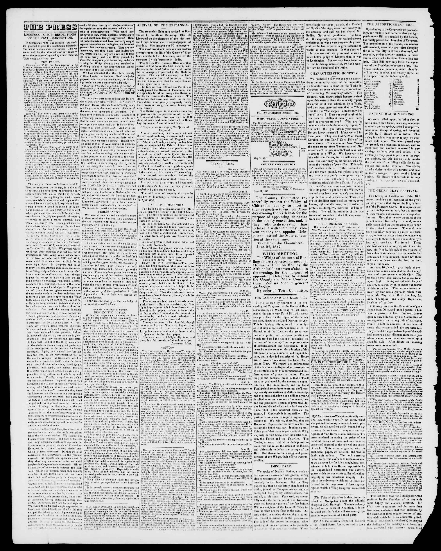 Newspaper of Burlington Free Press dated June 24, 1842 Page 2