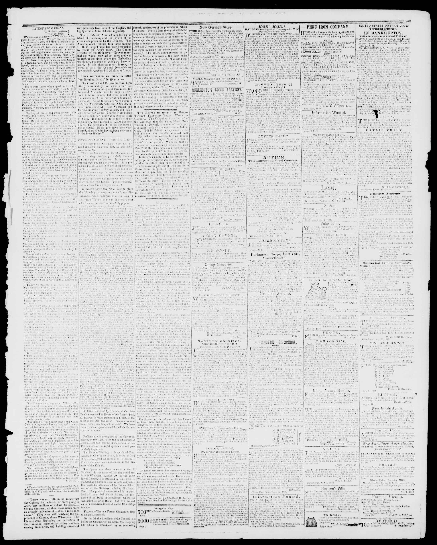 Newspaper of Burlington Free Press dated September 9, 1842 Page 3
