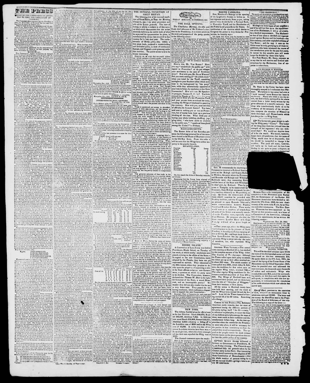 Newspaper of Burlington Free Press dated December 9, 1842 Page 2