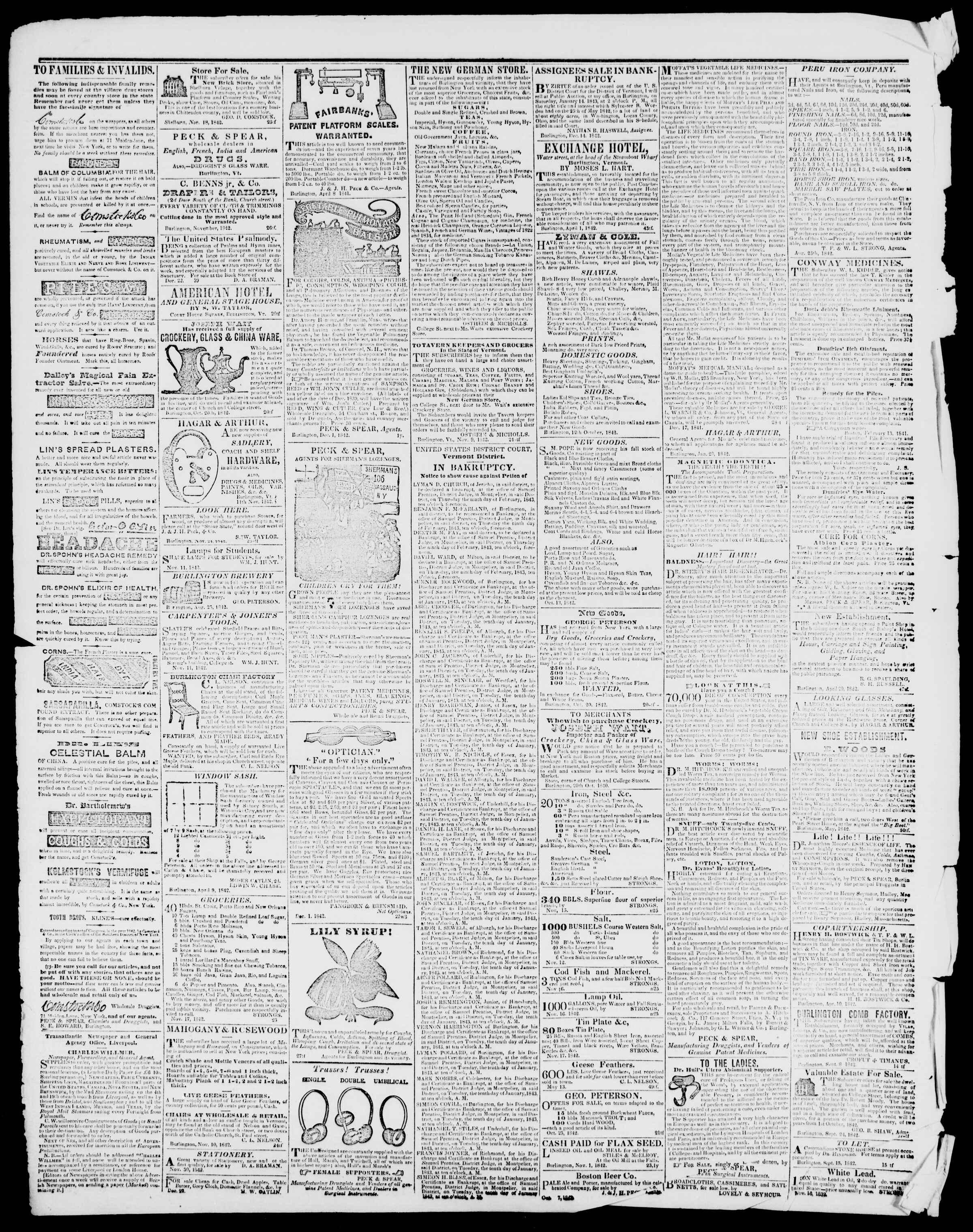 Newspaper of Burlington Free Press dated January 13, 1843 Page 4