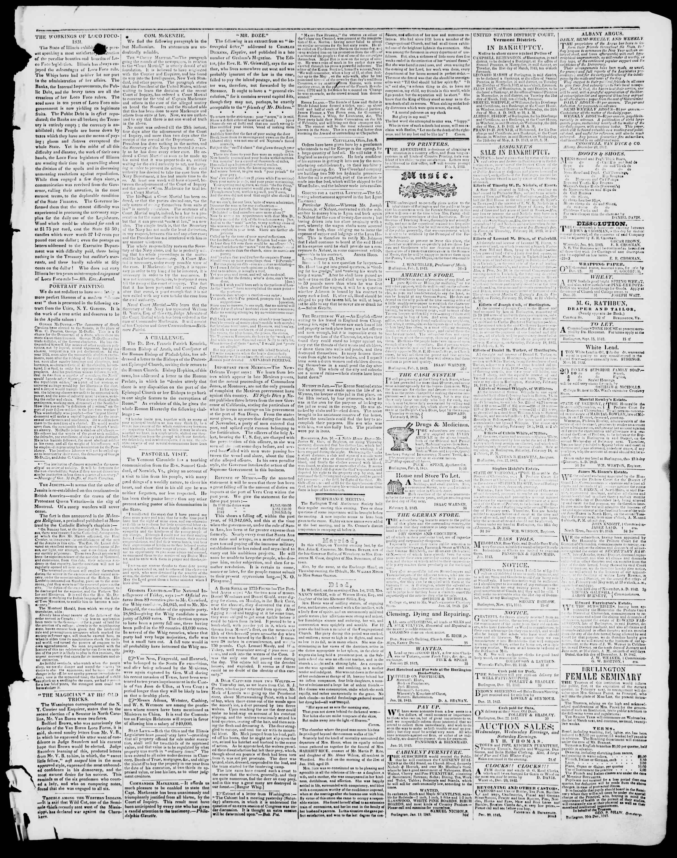 Newspaper of Burlington Free Press dated February 3, 1843 Page 3
