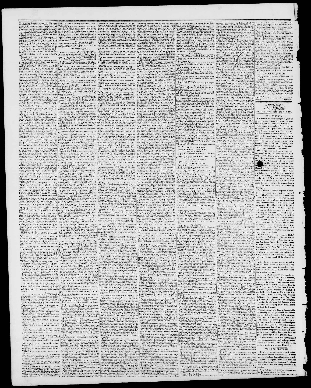 Newspaper of Burlington Free Press dated November 3, 1843 Page 2