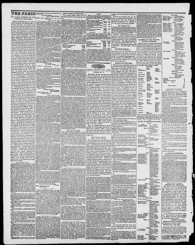 Newspaper of Burlington Free Press dated December 1, 1843 Page 2