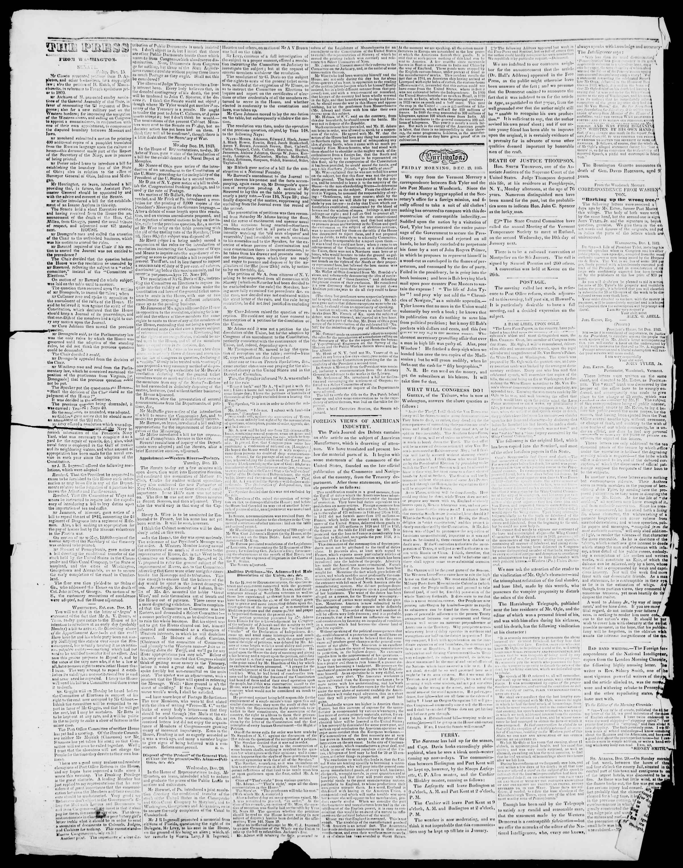 Newspaper of Burlington Free Press dated December 29, 1843 Page 2