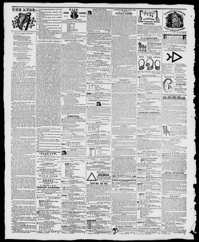 Newspaper of Burlington Free Press dated 10 Mayıs 1844 Page 4