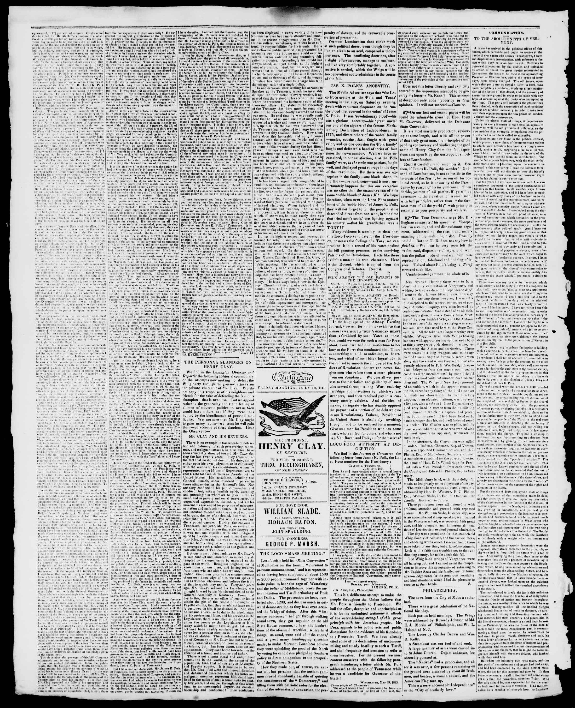 Newspaper of Burlington Free Press dated July 12, 1844 Page 2