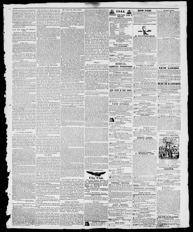 Newspaper of Burlington Free Press dated July 19, 1844 Page 3
