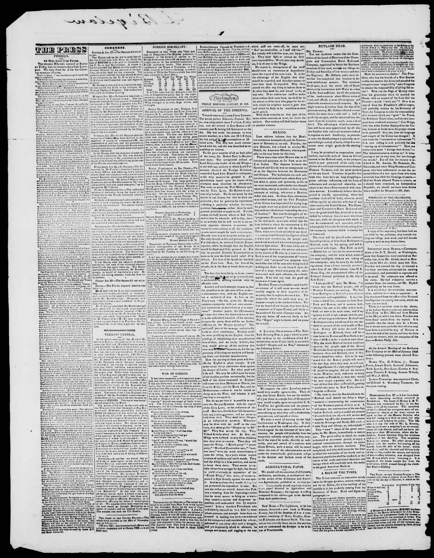 Newspaper of Burlington Free Press dated January 30, 1846 Page 2