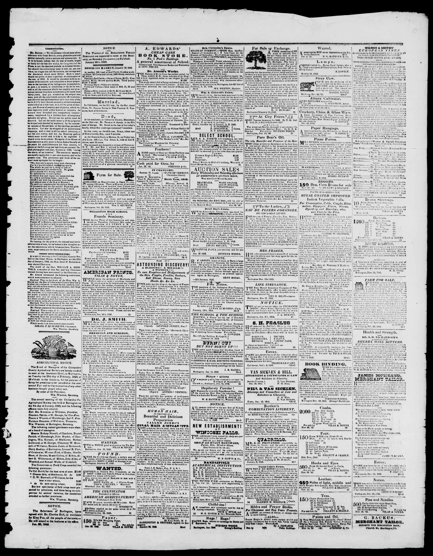 Newspaper of Burlington Free Press dated January 30, 1846 Page 3