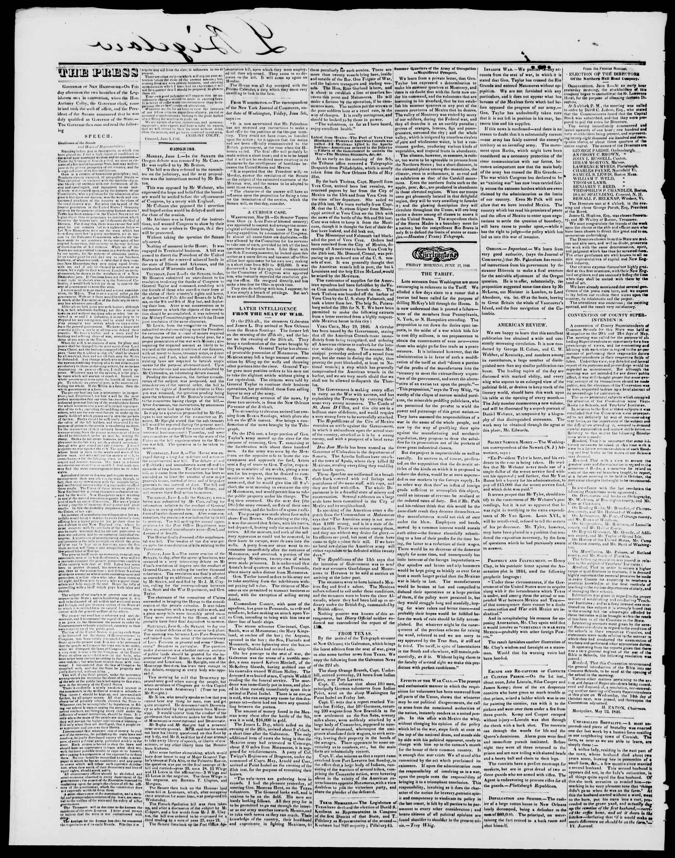 Newspaper of Burlington Free Press dated June 12, 1846 Page 2