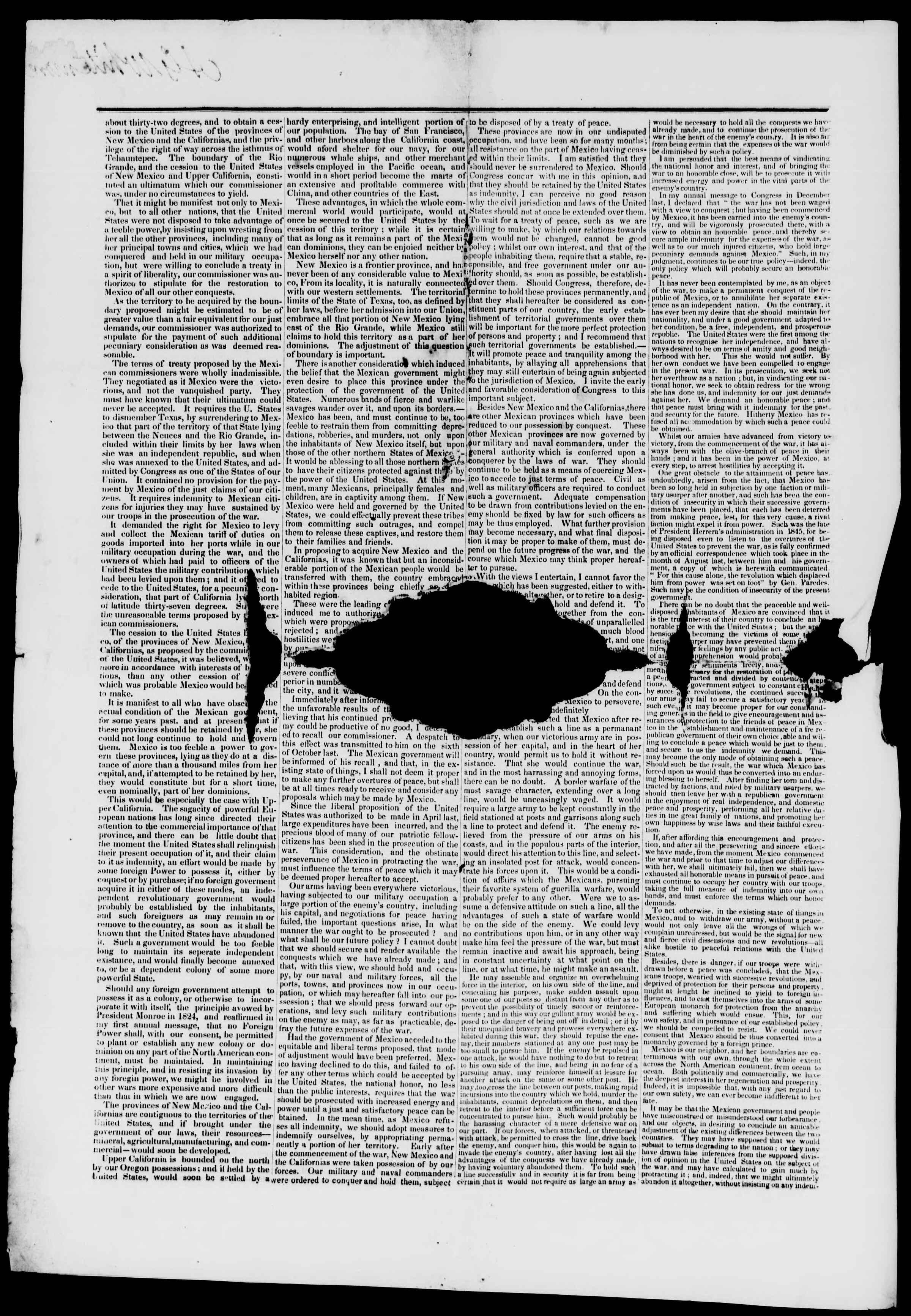 11 Aralık 1847 tarihli Burlington Free Press Gazetesi Sayfa 2