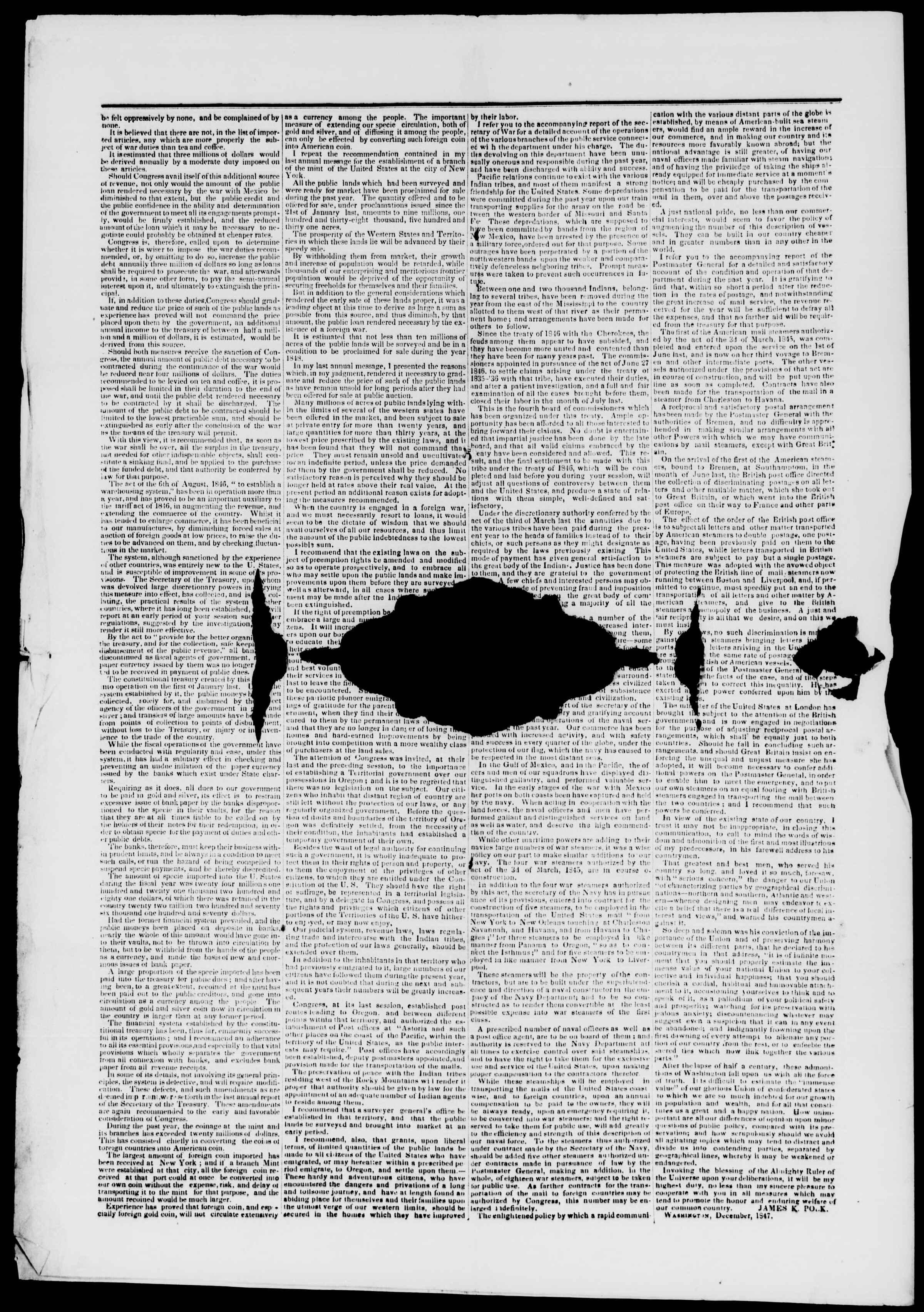 Newspaper of Burlington Free Press dated December 11, 1847 Page 4
