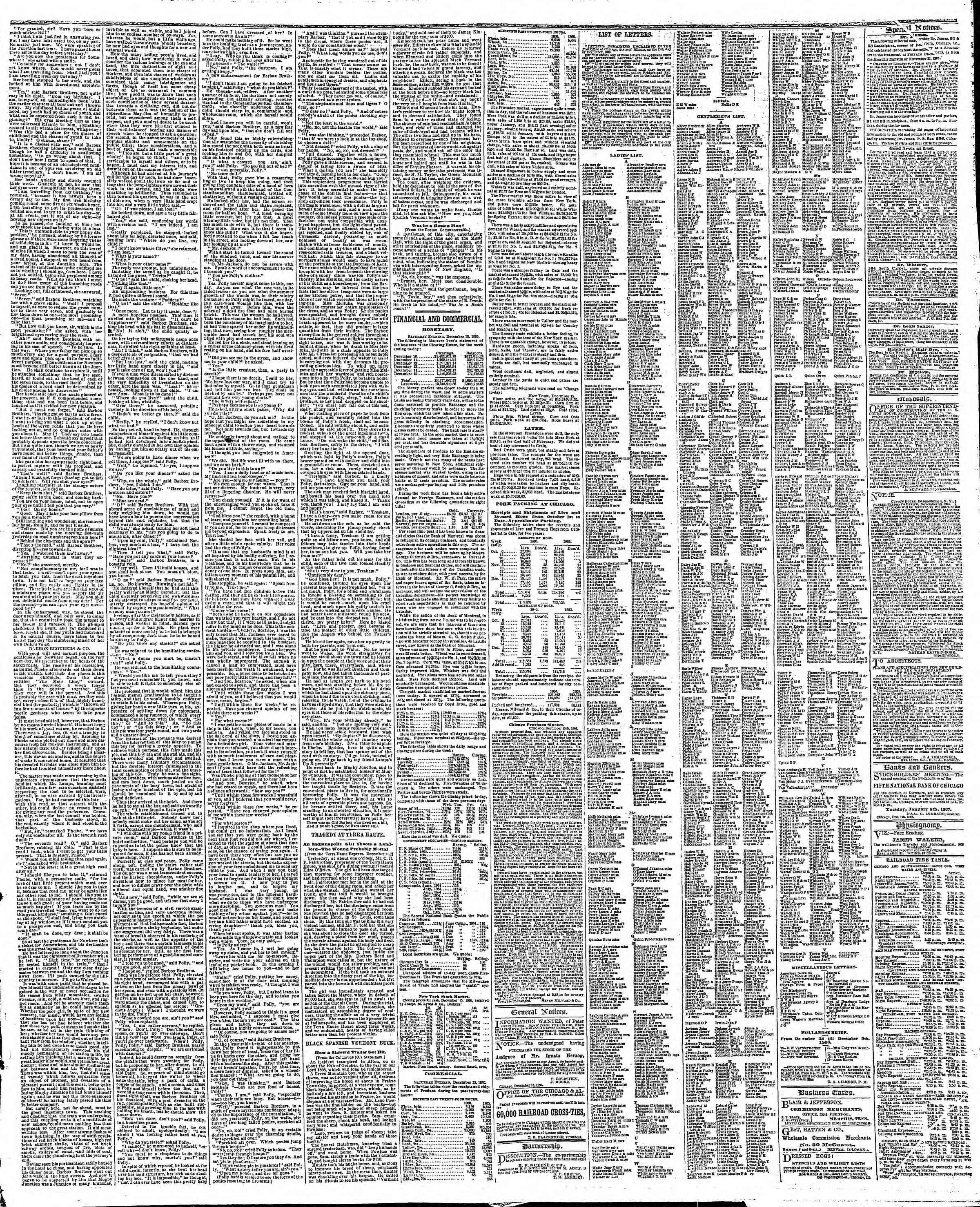Newspaper of The Chicago Tribune dated December 16, 1866 Page 3