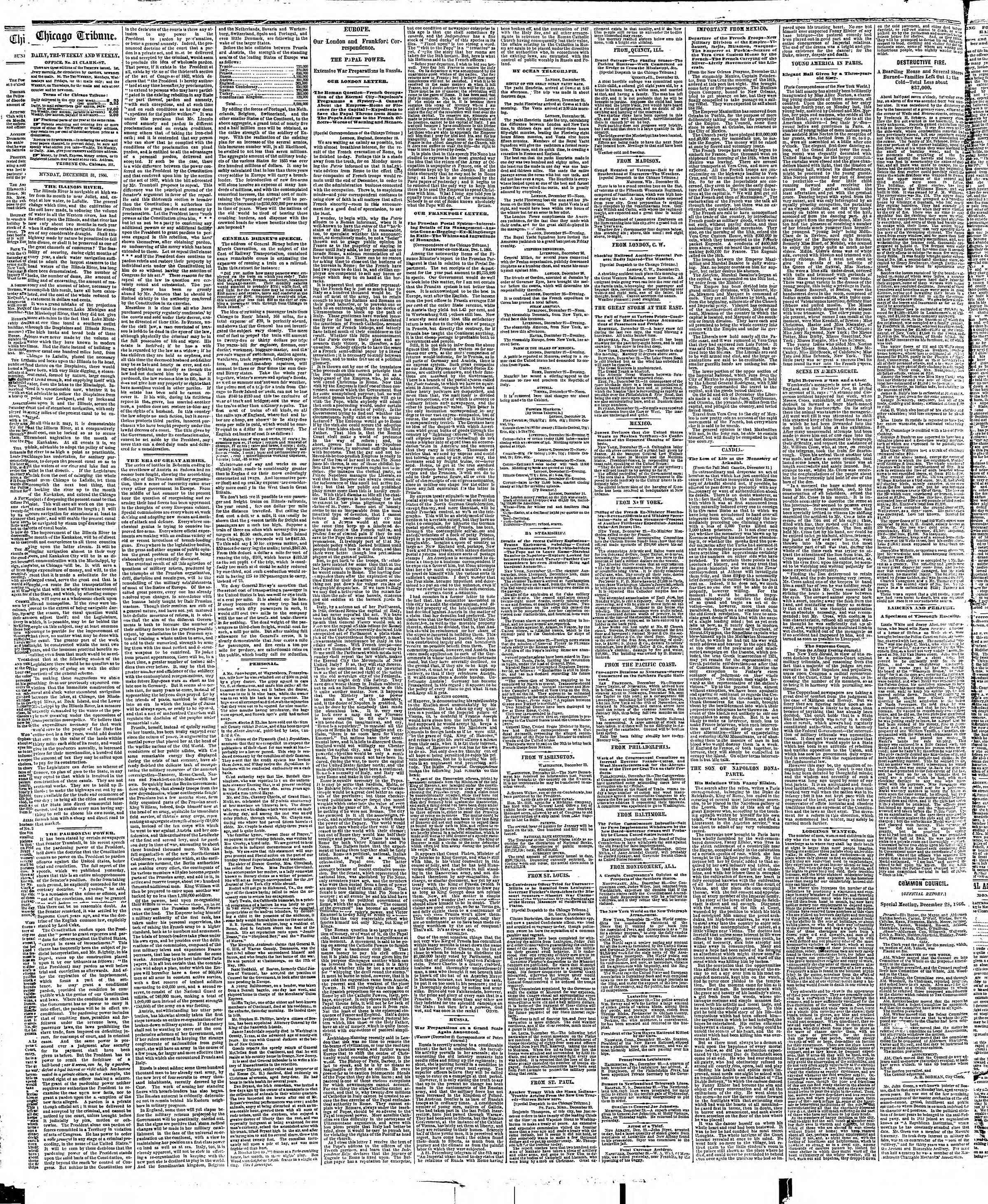 Newspaper of The Chicago Tribune dated December 31, 1866 Page 2