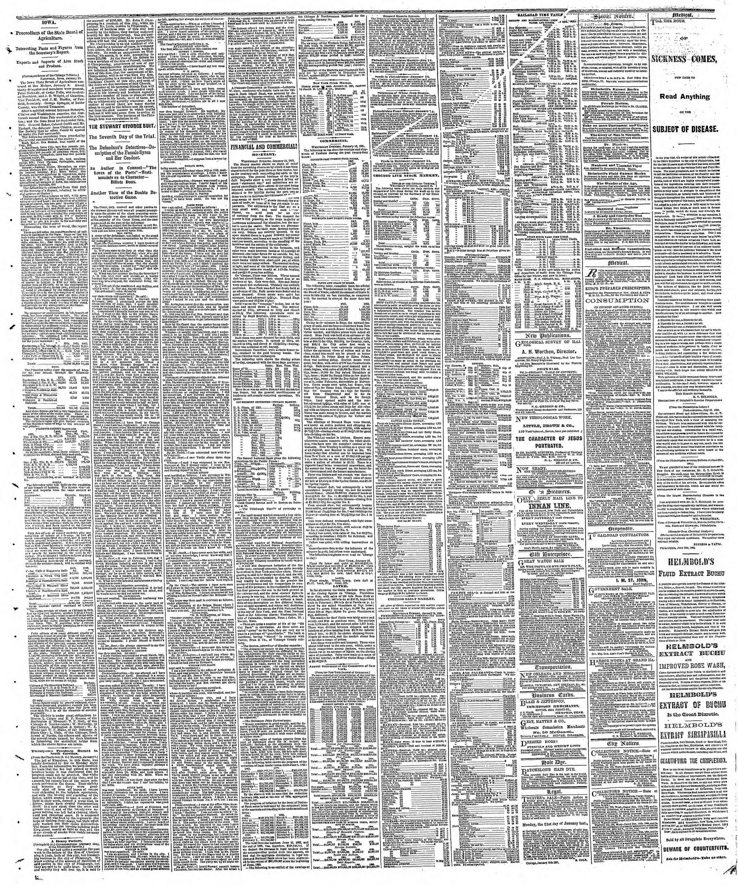 Newspaper of The Chicago Tribune dated January 17, 1867 Page 3