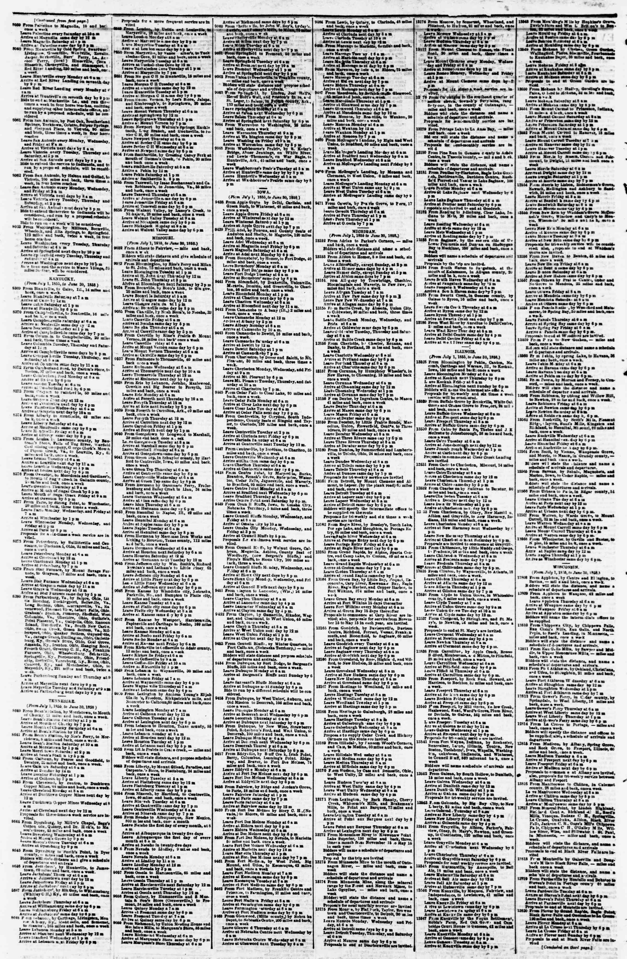 Newspaper of Evening Star dated February 16, 1855 Page 4