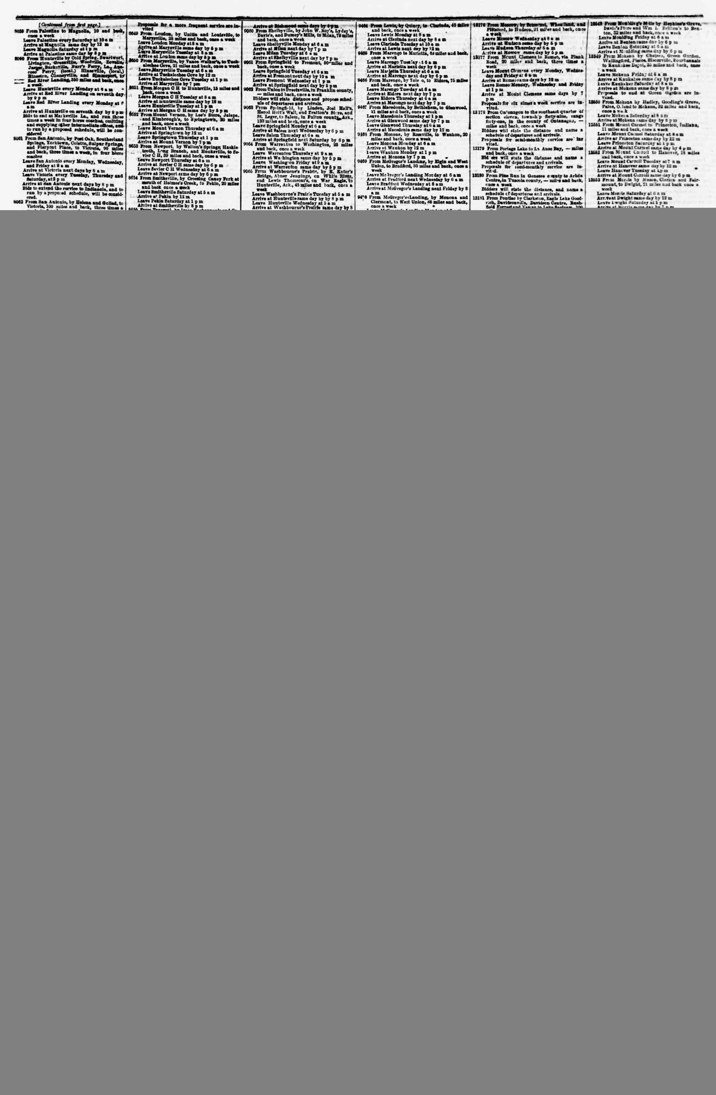 23 Şubat 1855 tarihli Evening Star Gazetesi Sayfa 4