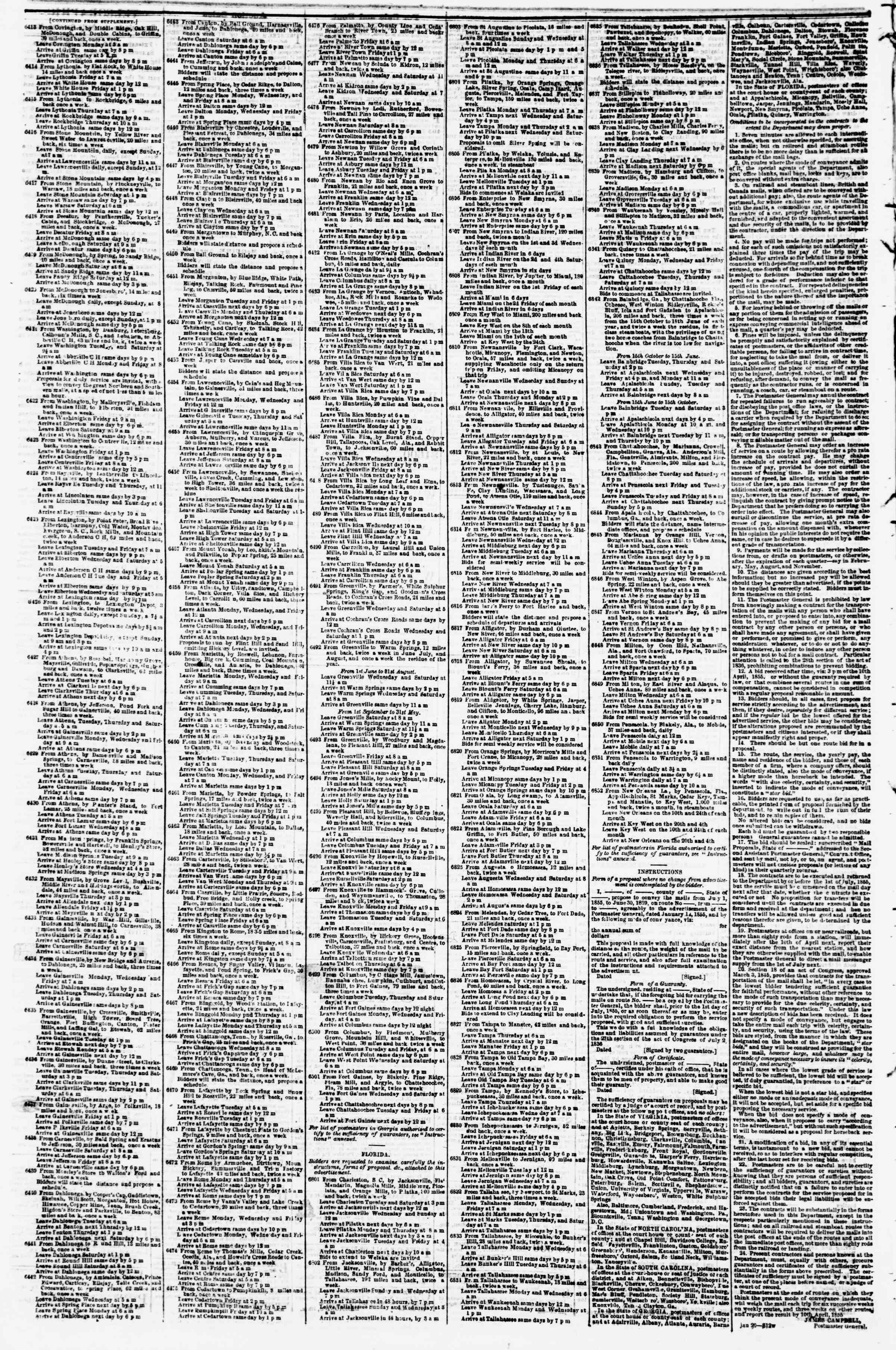 Newspaper of Evening Star dated March 3, 1855 Page 4