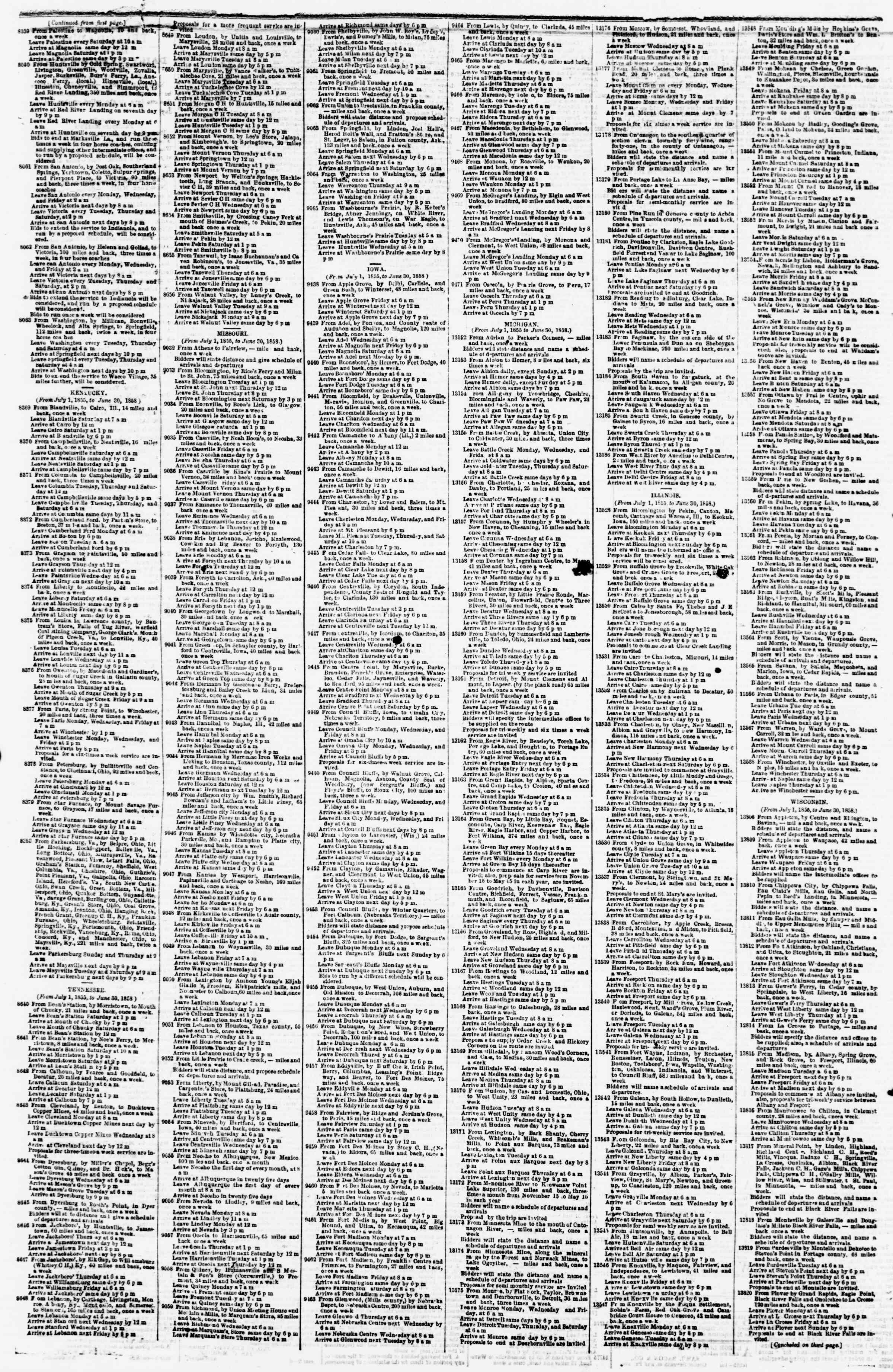 Newspaper of Evening Star dated March 9, 1855 Page 4