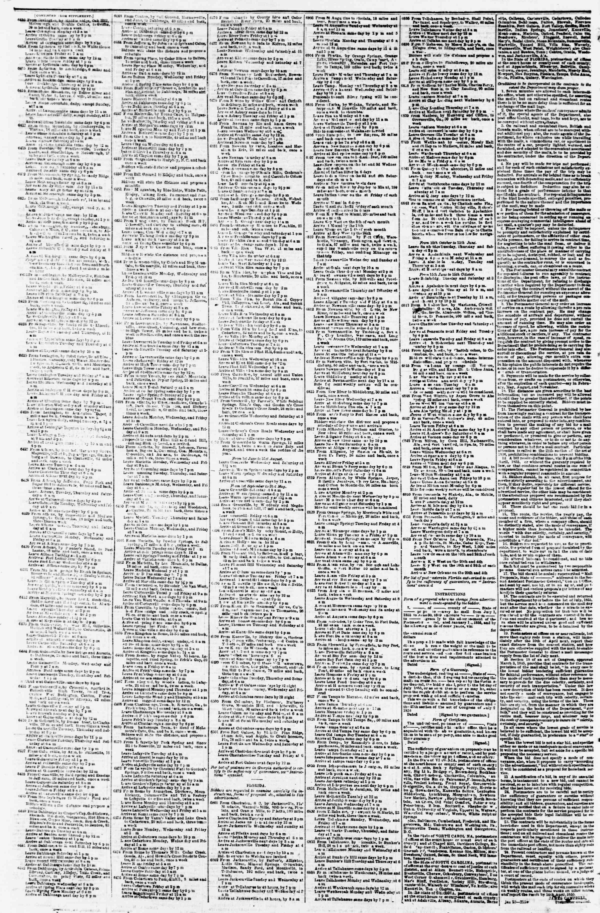 Newspaper of Evening Star dated March 10, 1855 Page 4