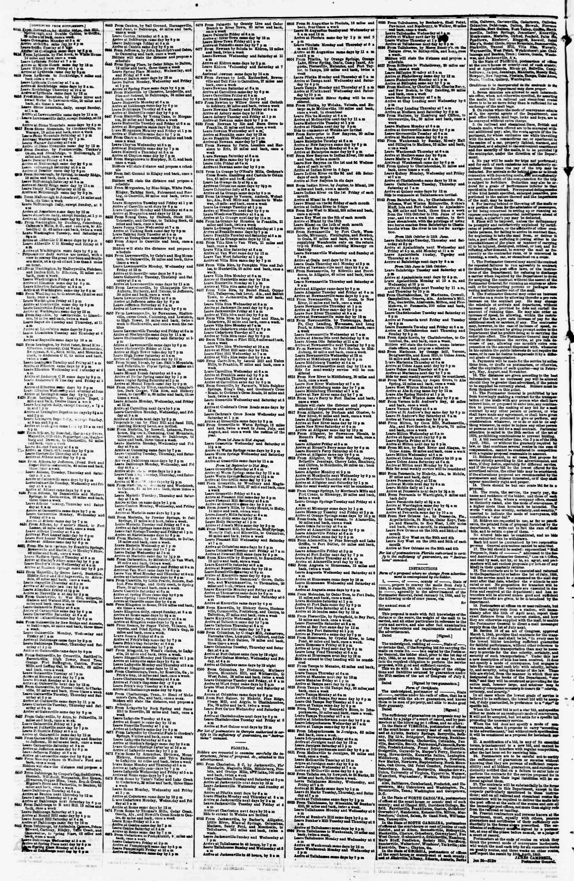 Newspaper of Evening Star dated March 31, 1855 Page 4