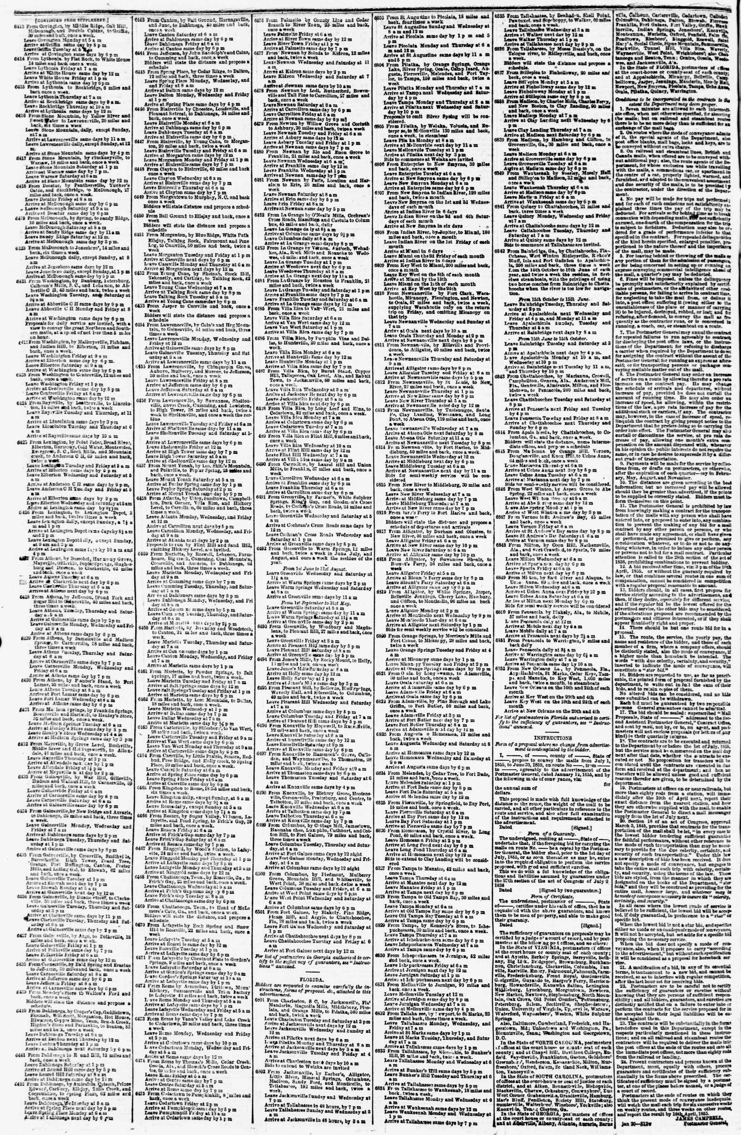Newspaper of Evening Star dated April 7, 1855 Page 4