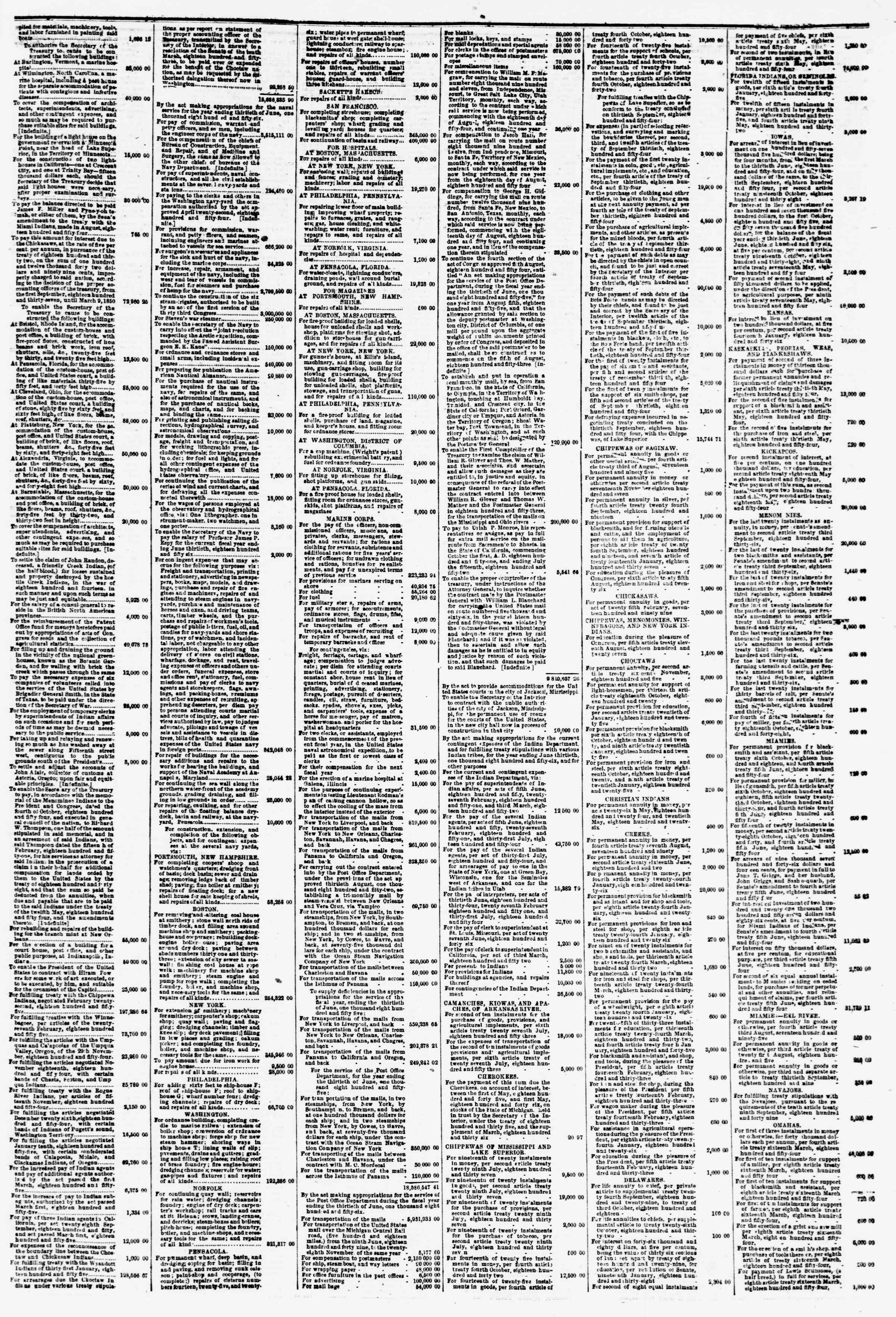 Newspaper of Evening Star dated May 18, 1855 Page 7