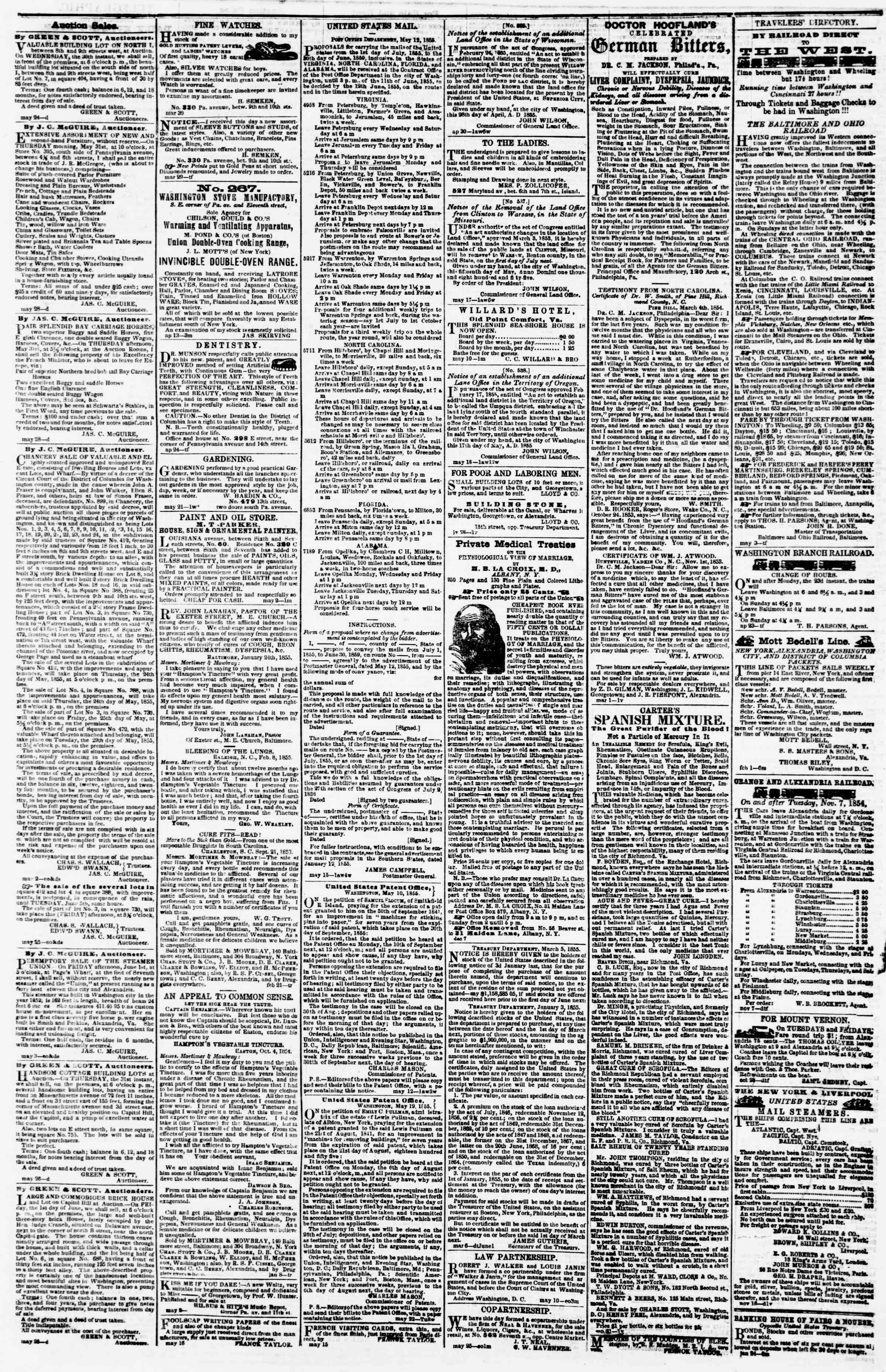 Newspaper of Evening Star dated 29 Mayıs 1855 Page 4