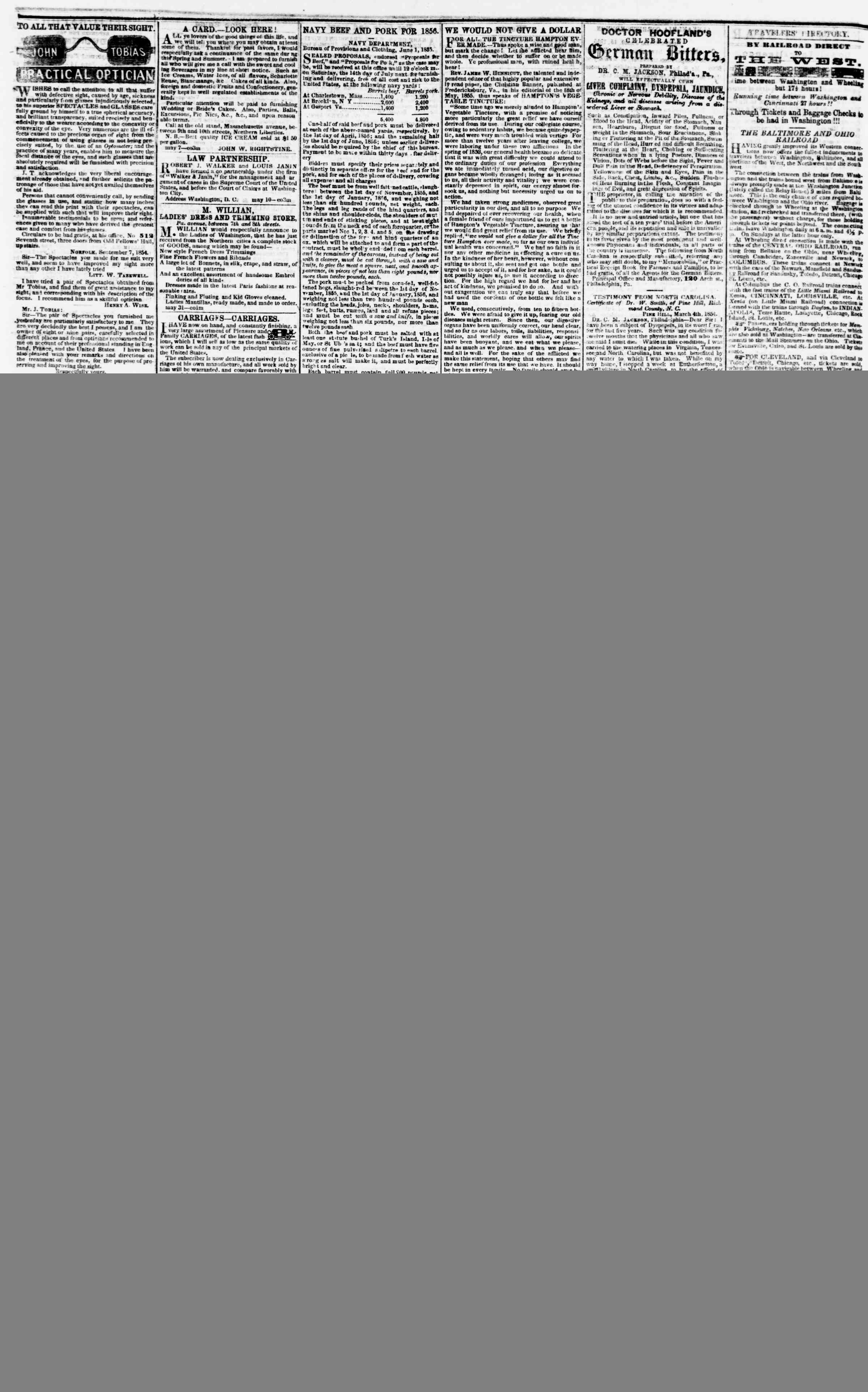 Newspaper of Evening Star dated June 15, 1855 Page 4