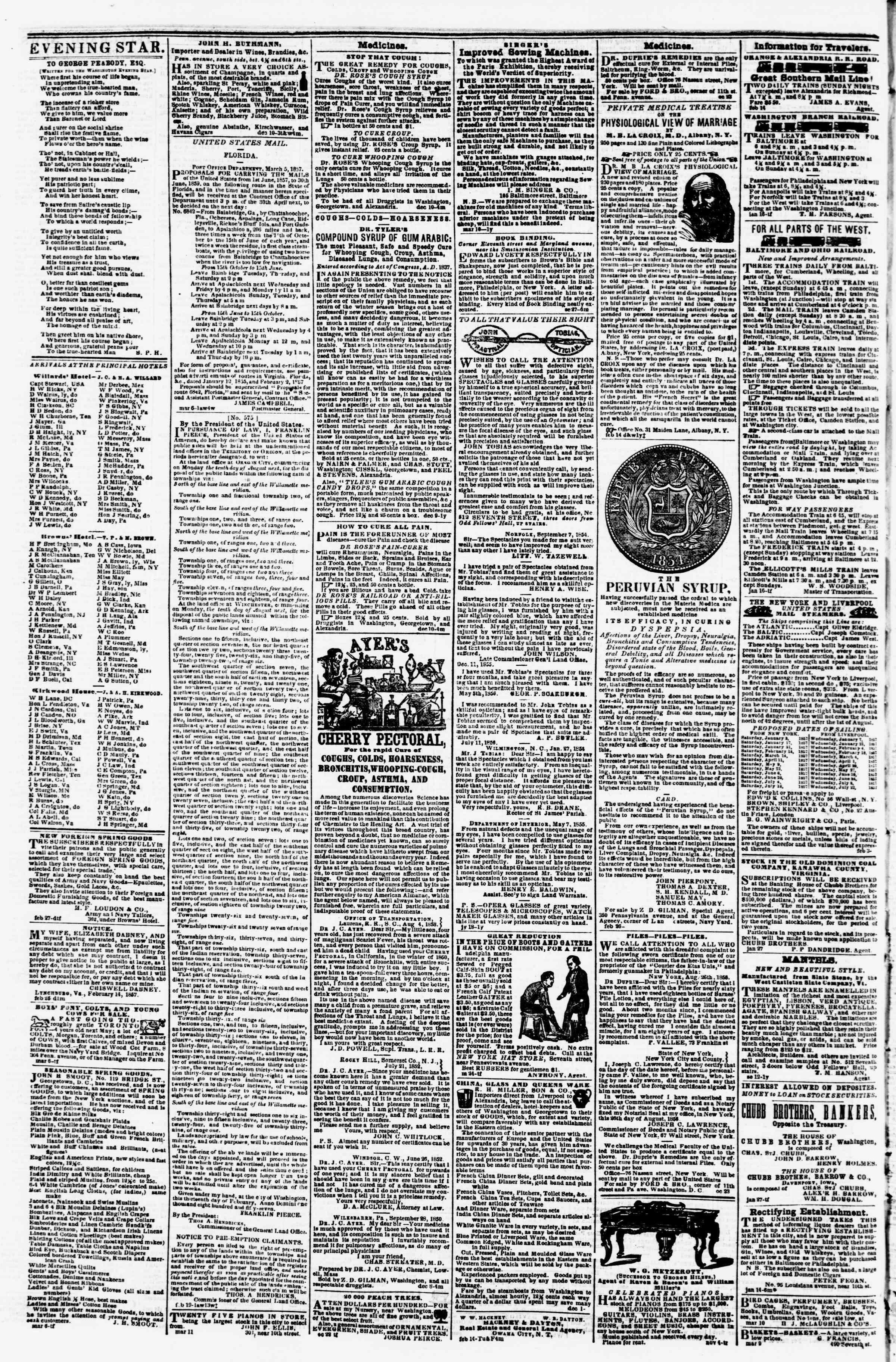 Newspaper of Evening Star dated March 17, 1857 Page 4