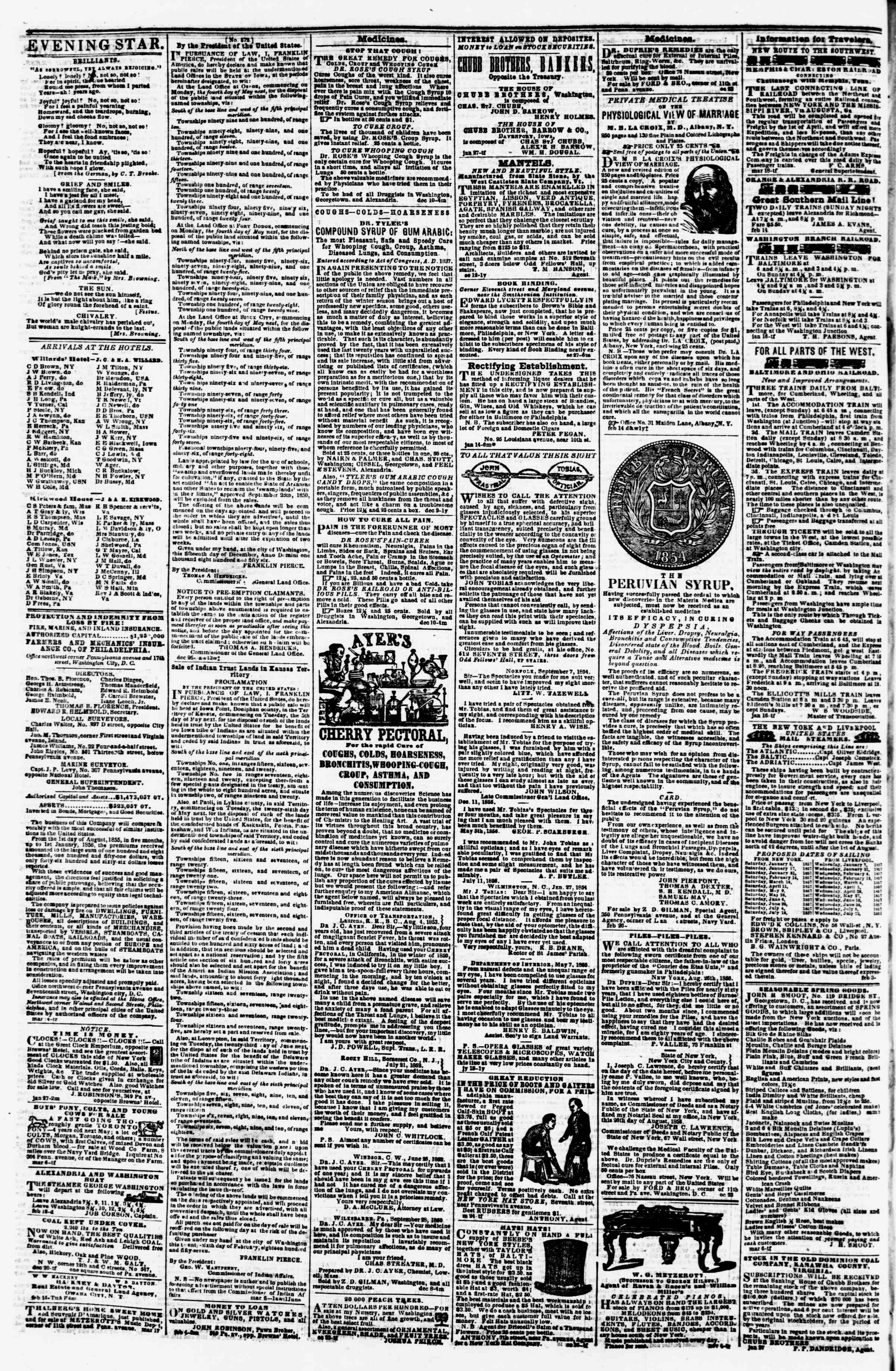 Newspaper of Evening Star dated March 21, 1857 Page 4