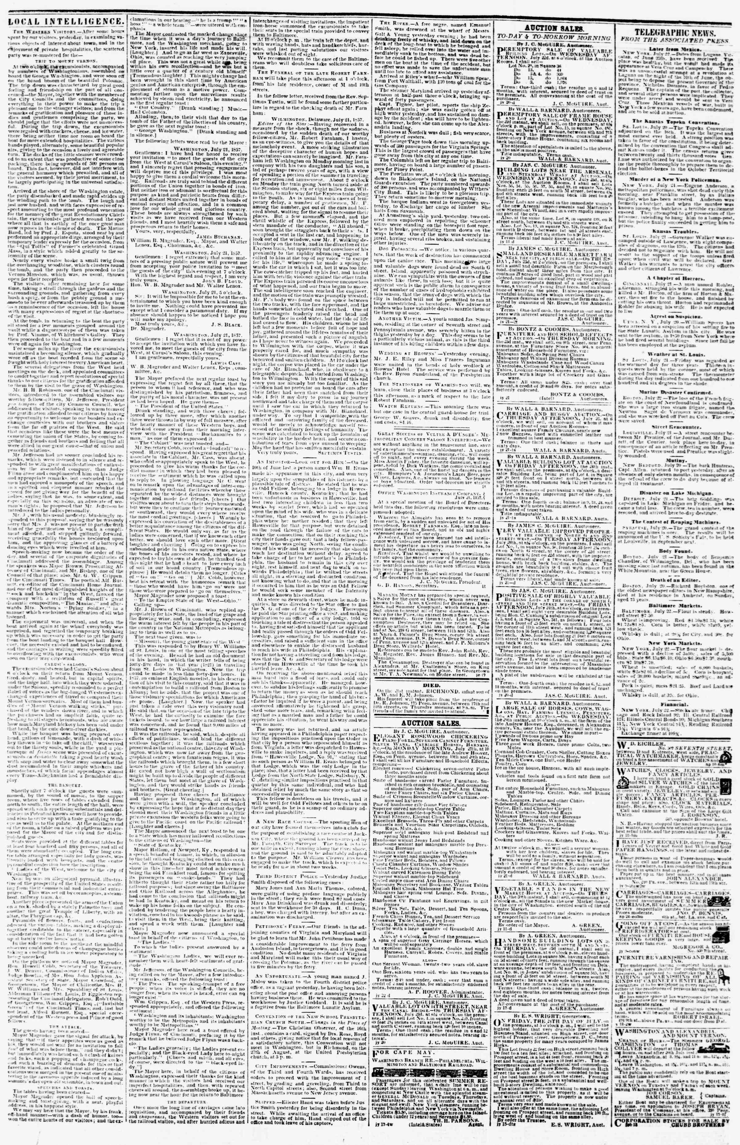 Newspaper of Evening Star dated 22 Temmuz 1857 Page 3