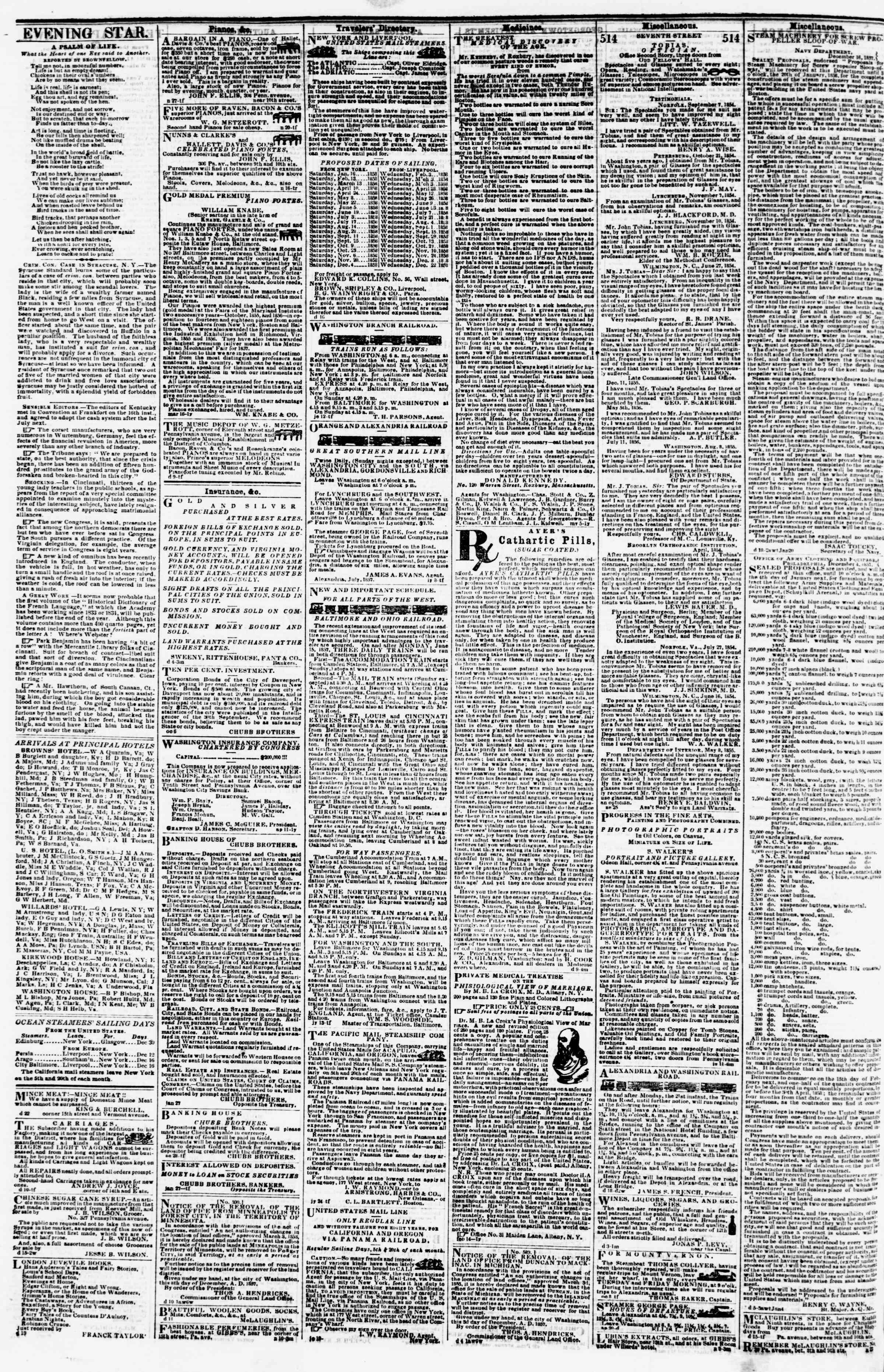 Newspaper of Evening Star dated 28 Aralık 1857 Page 4
