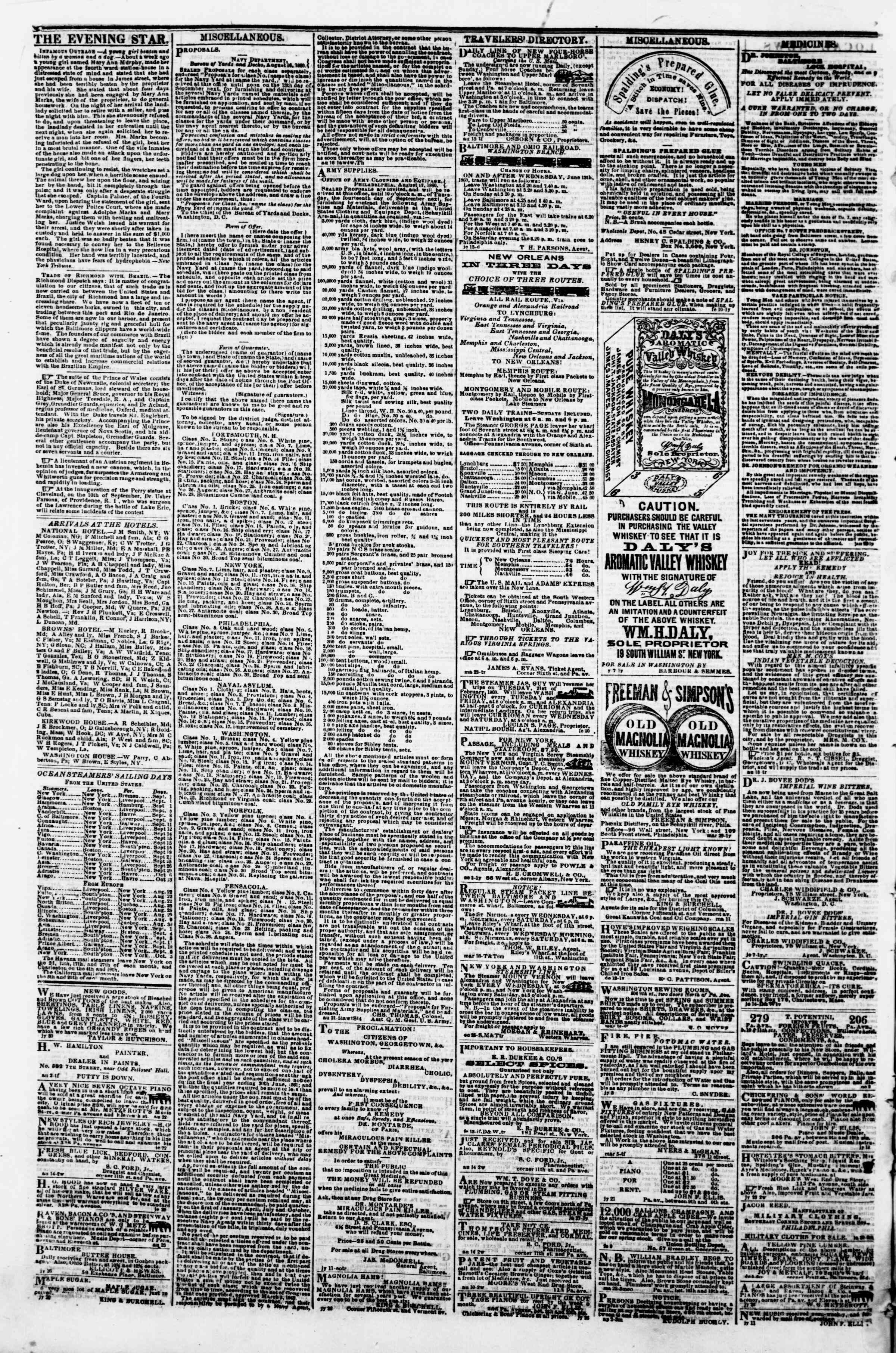Newspaper of Evening Star dated 30 Ağustos 1860 Page 4