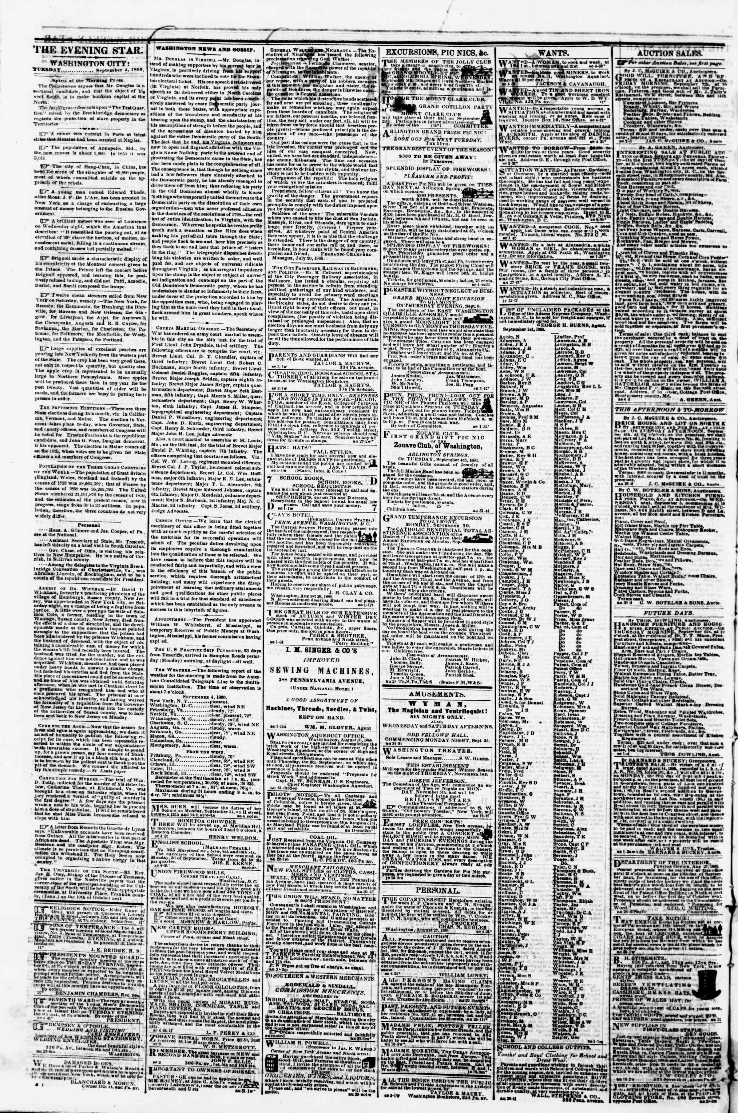 Newspaper of Evening Star dated 4 Eylül 1860 Page 2