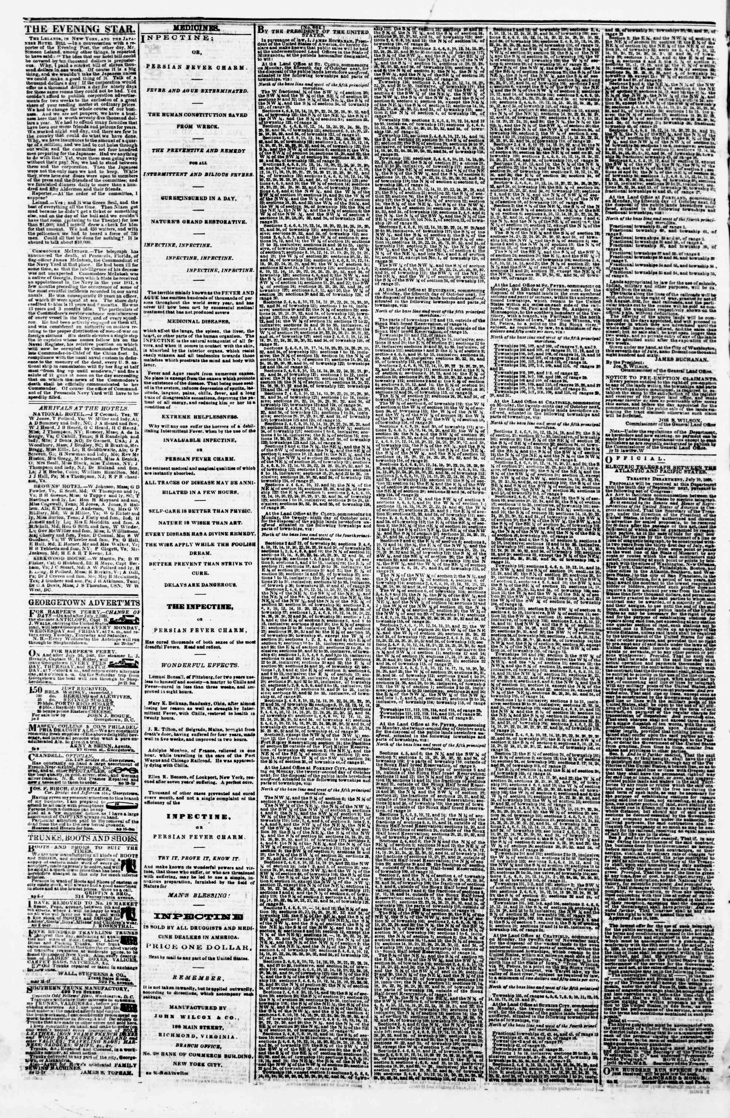 Newspaper of Evening Star dated September 5, 1860 Page 4