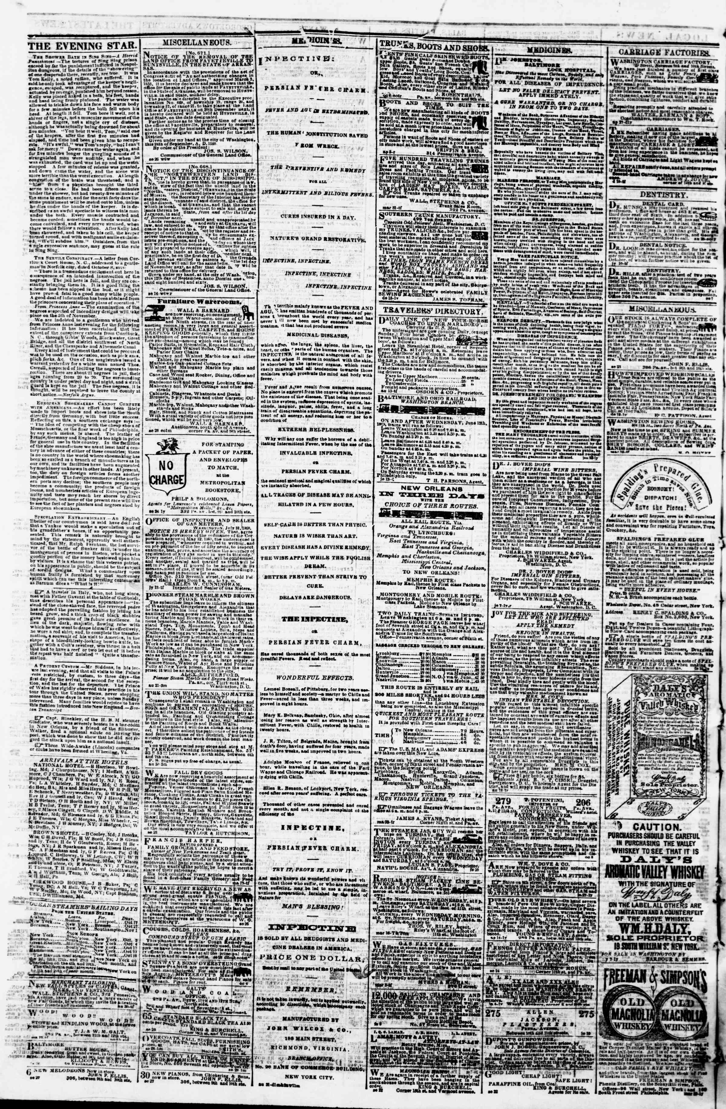 Newspaper of Evening Star dated October 17, 1860 Page 4