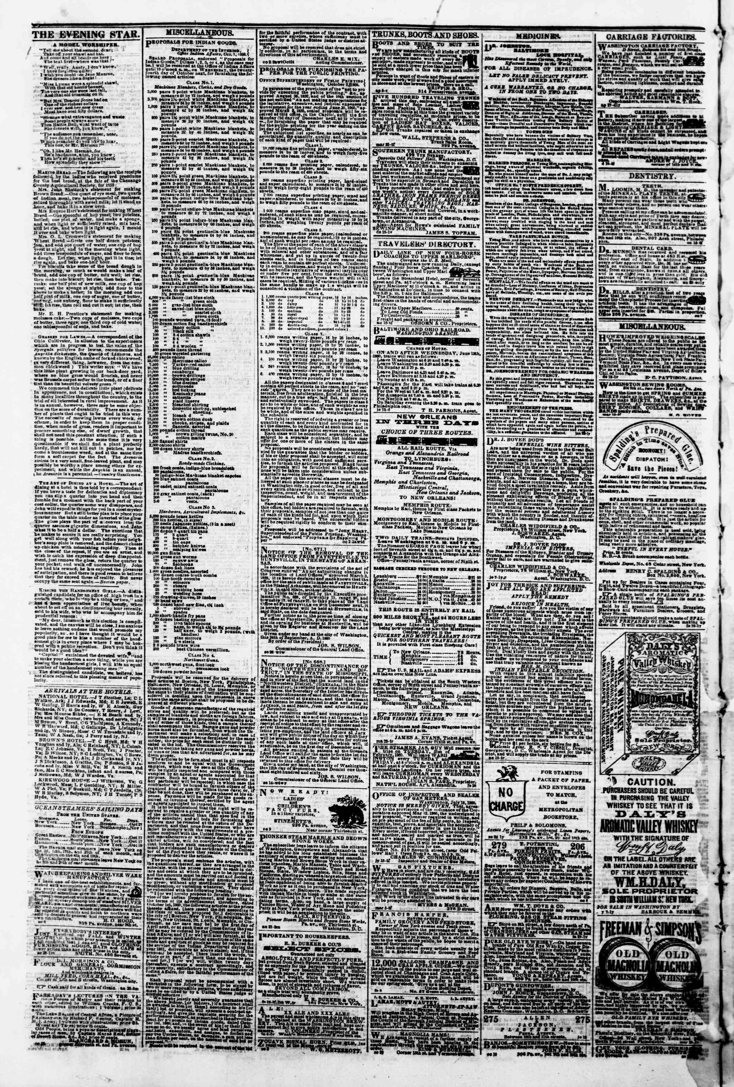 Newspaper of Evening Star dated October 23, 1860 Page 4