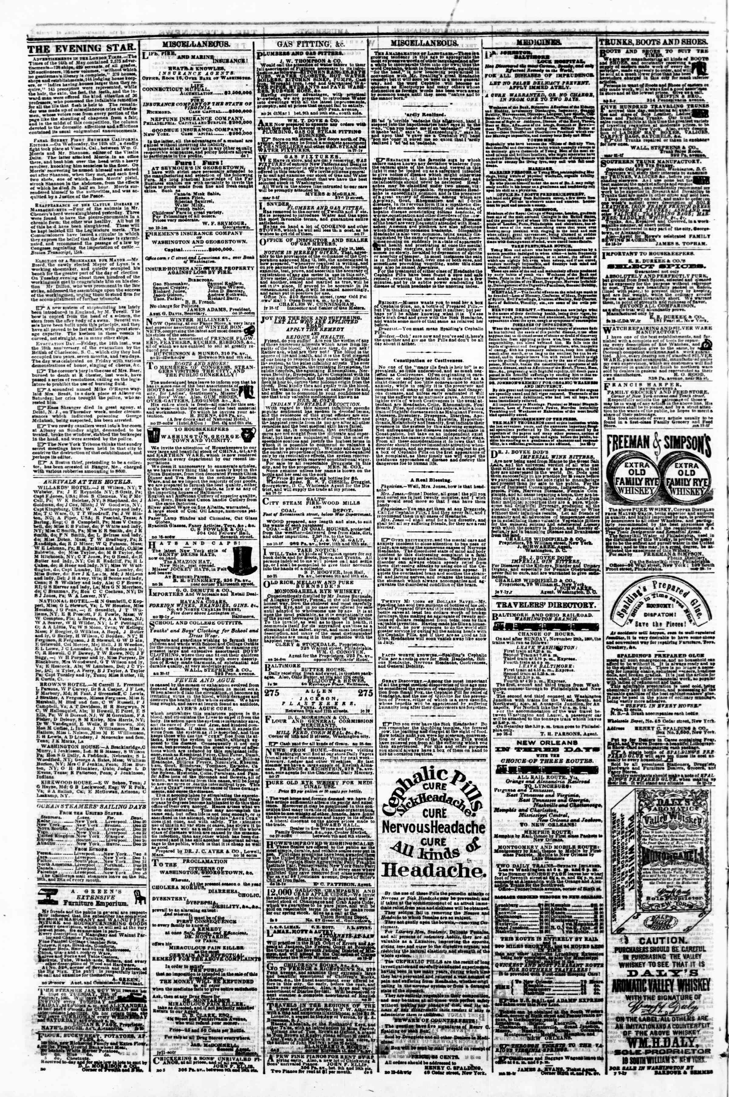 Newspaper of Evening Star dated December 19, 1860 Page 4