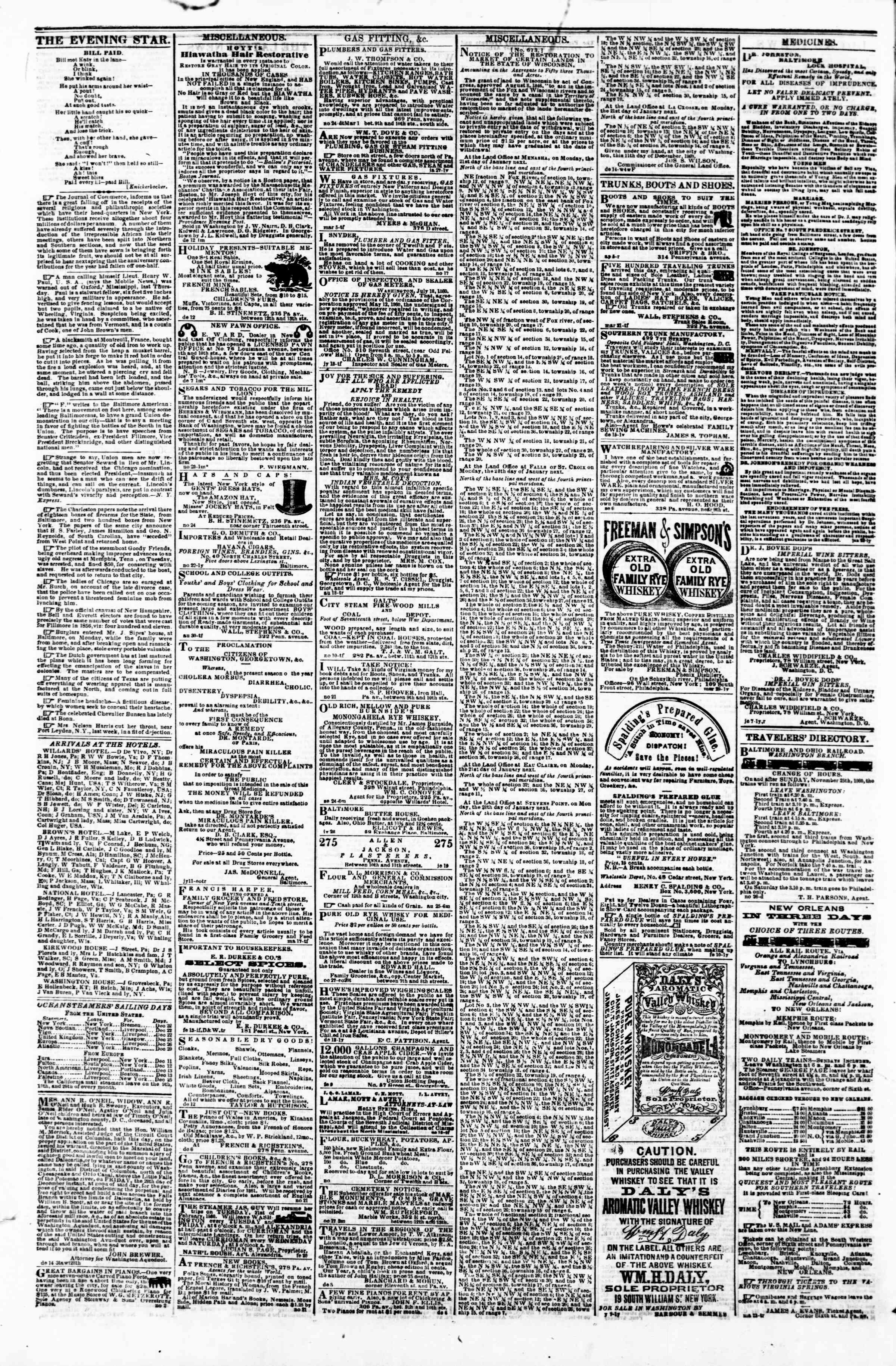 Newspaper of Evening Star dated 21 Aralık 1860 Page 4
