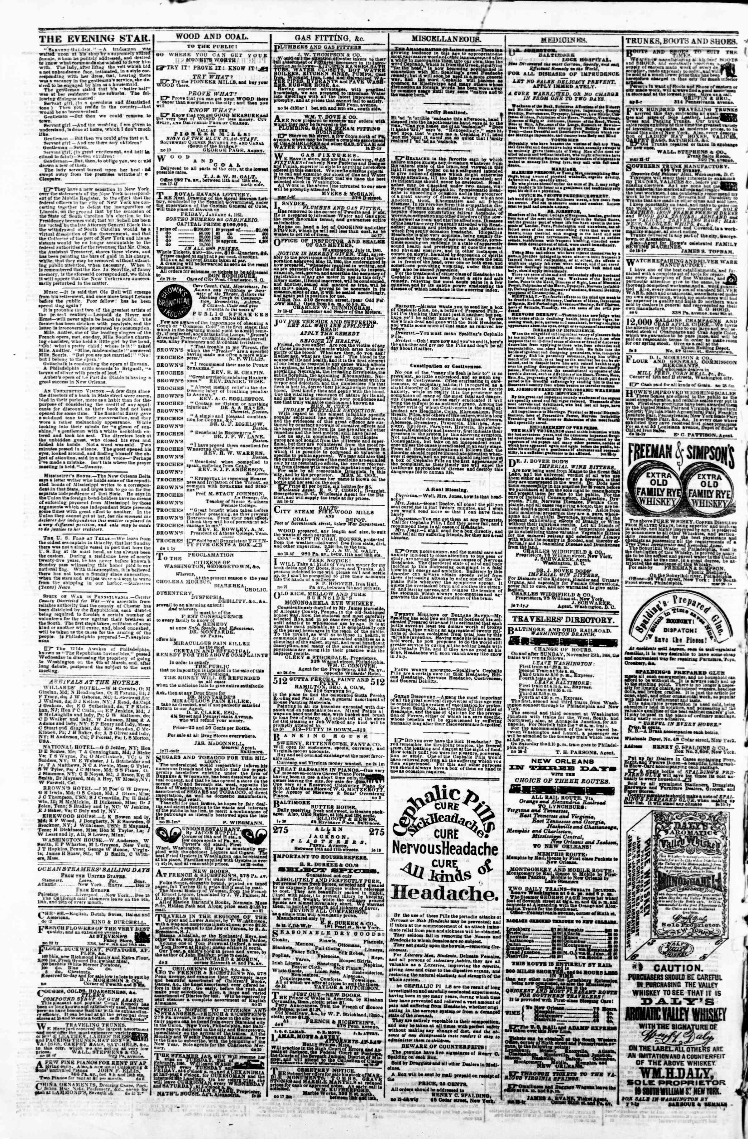 Newspaper of Evening Star dated 29 Aralık 1860 Page 4