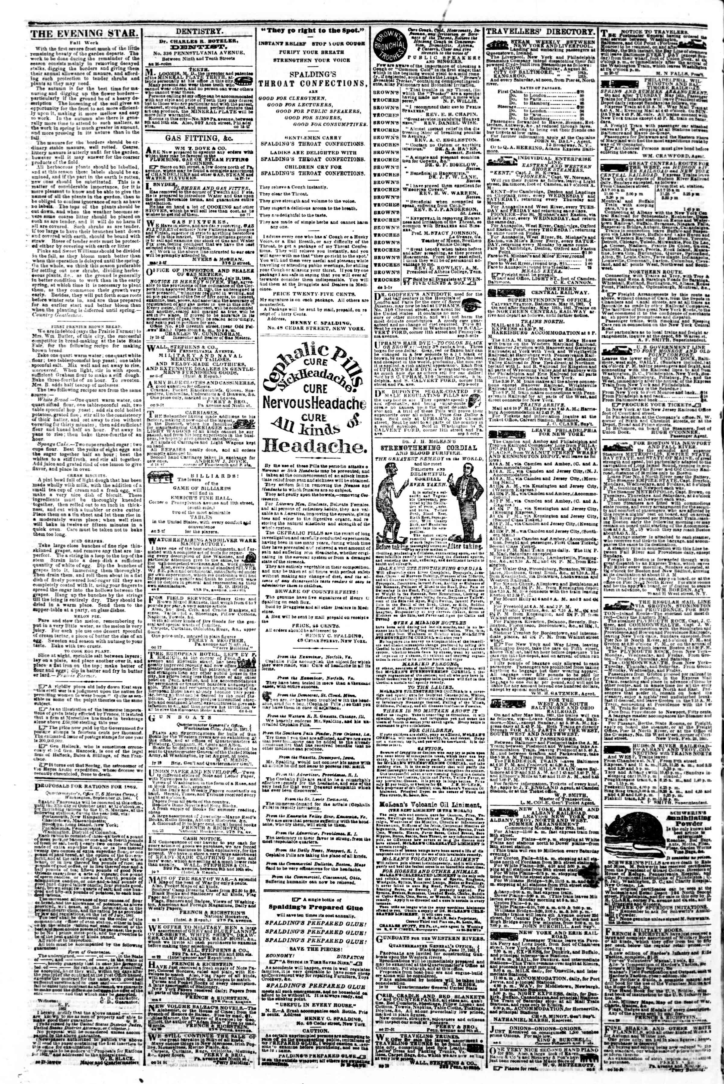 Newspaper of Evening Star dated October 30, 1861 Page 4