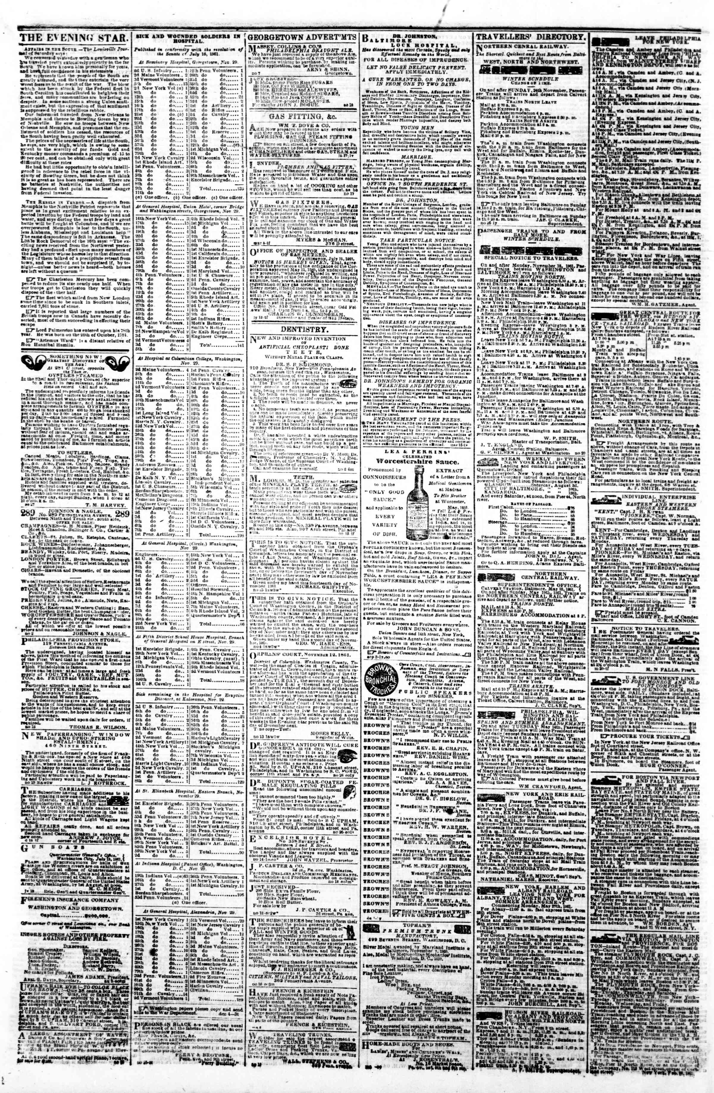 Newspaper of Evening Star dated December 5, 1861 Page 4
