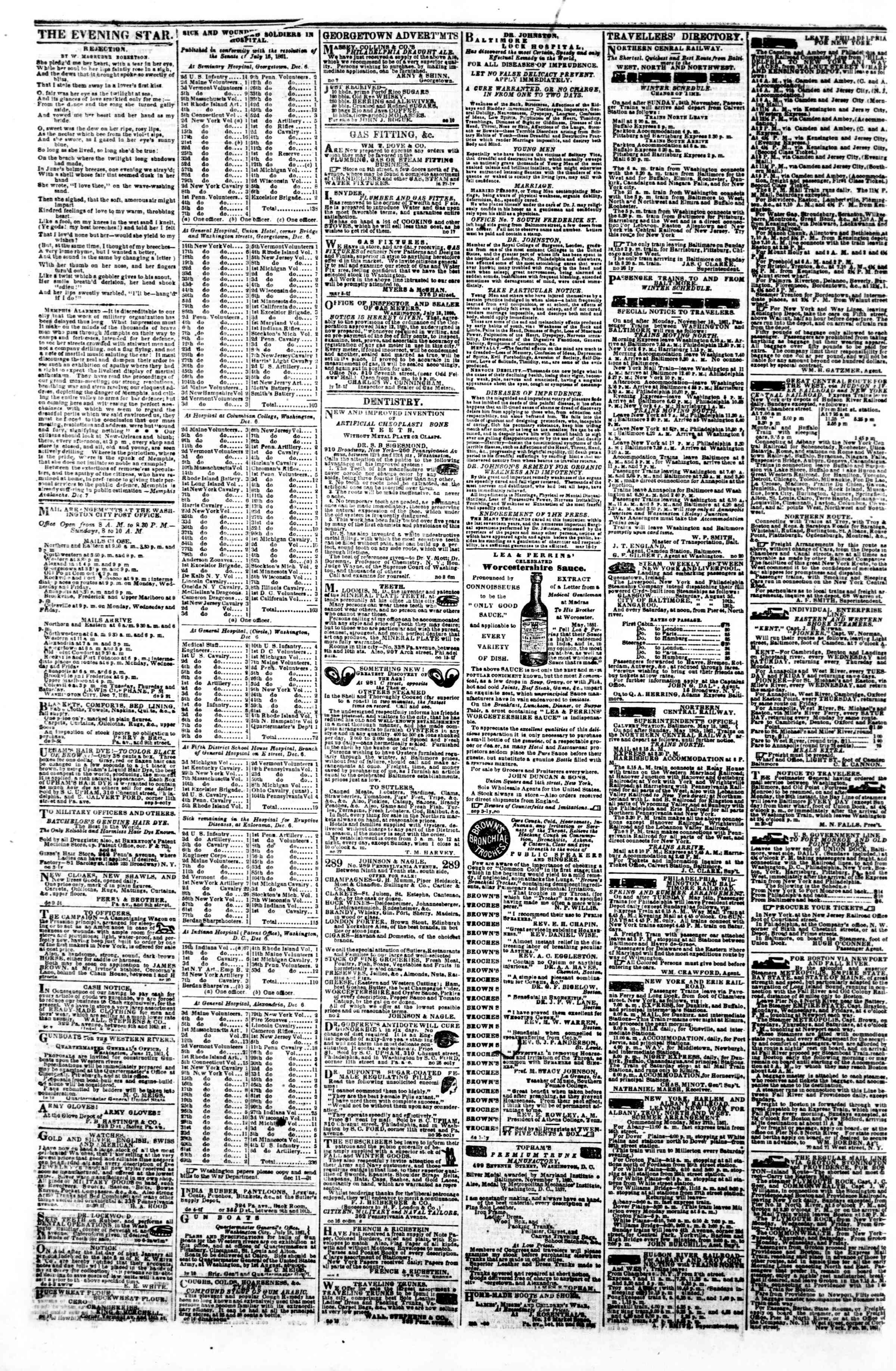 Newspaper of Evening Star dated December 13, 1861 Page 4