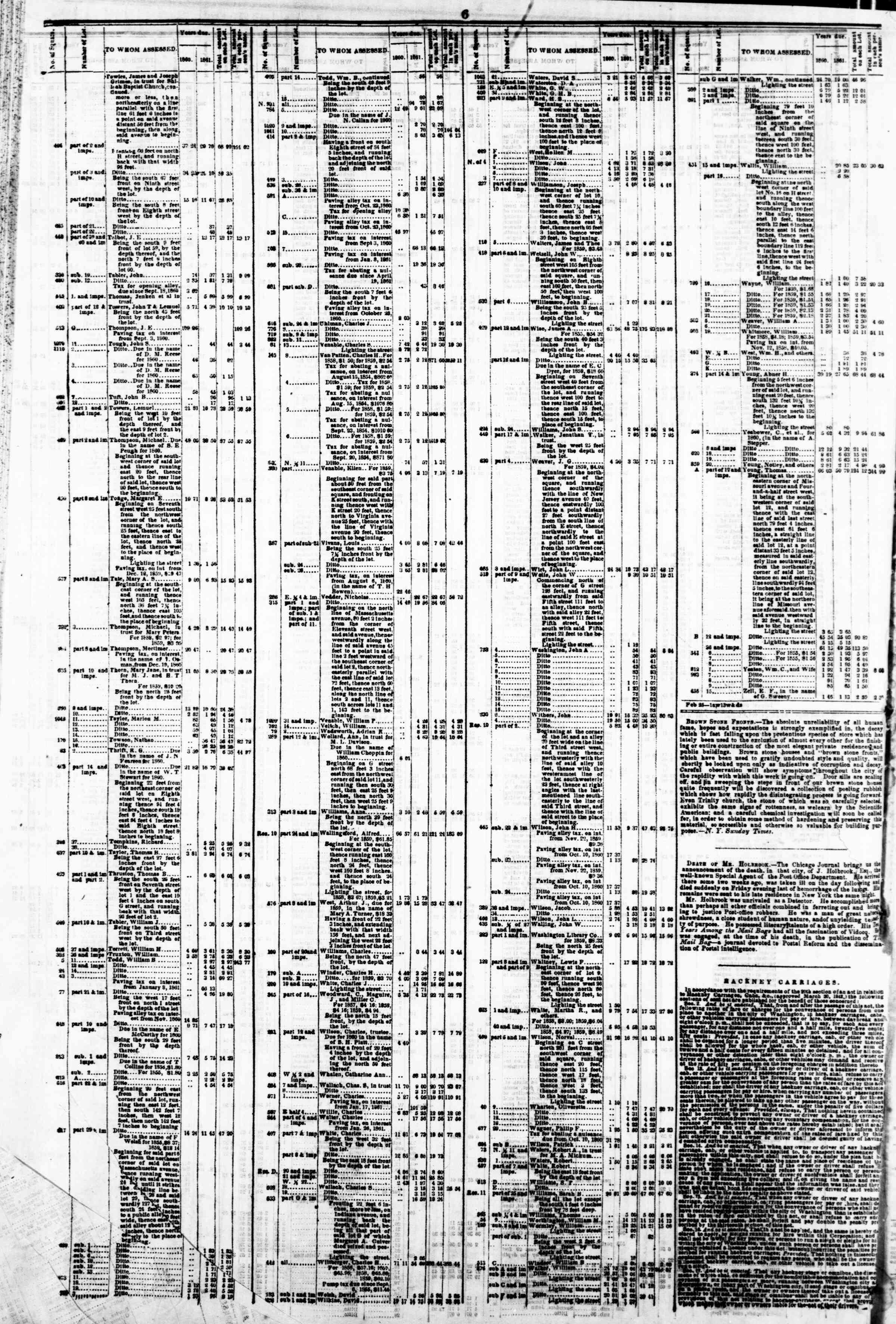 Newspaper of Evening Star dated March 4, 1862 Page 10