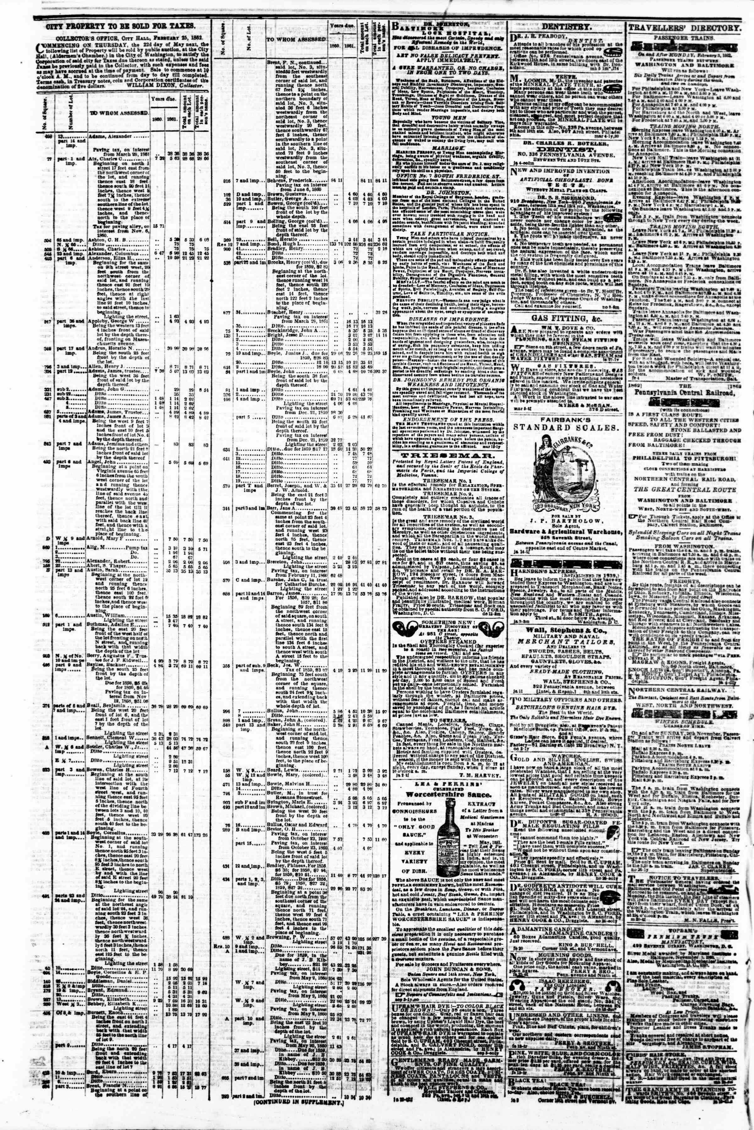 Newspaper of Evening Star dated March 11, 1862 Page 4
